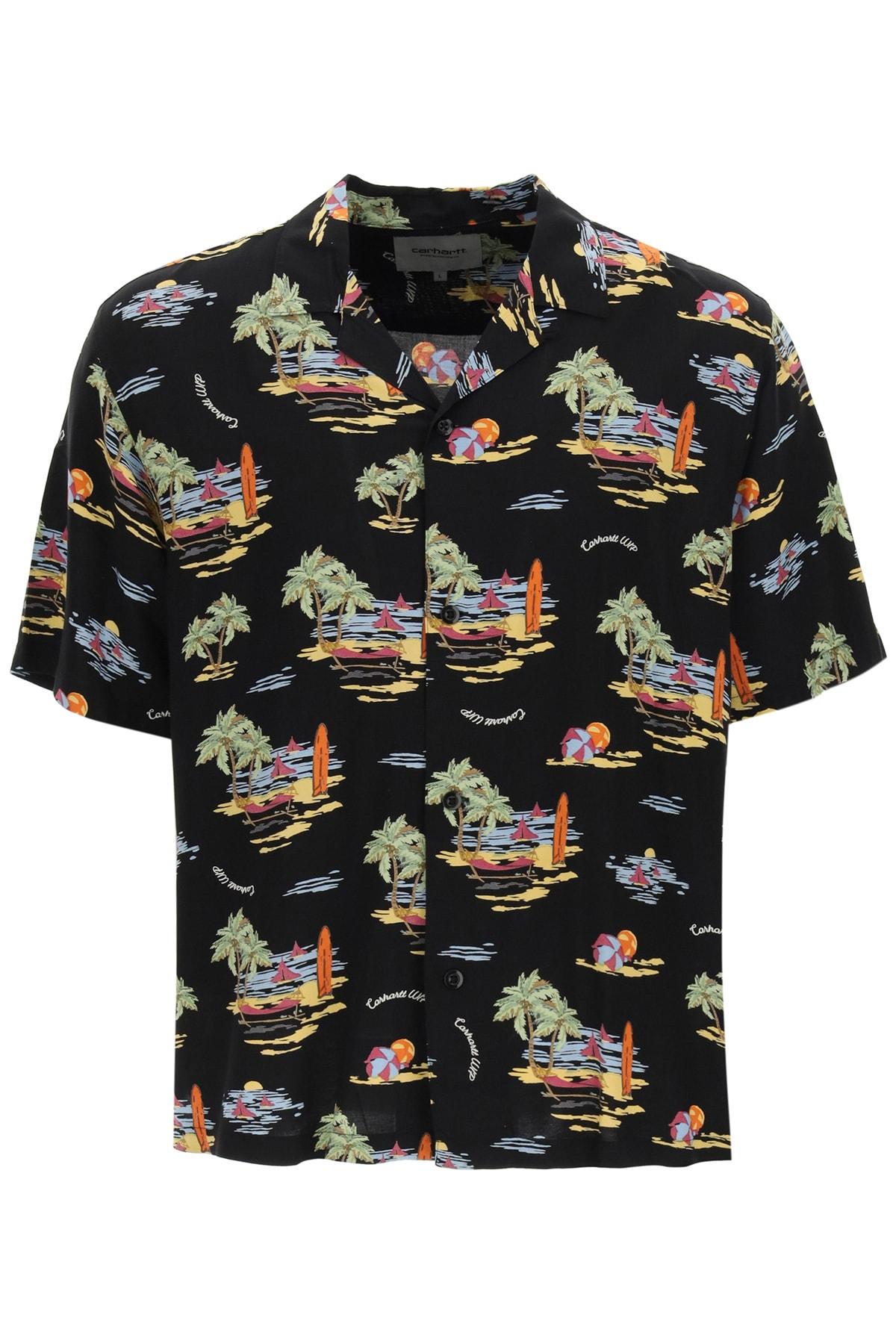 Beach Print Hawaiian Shirt