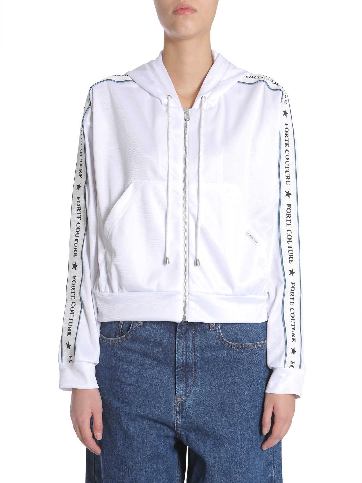 Forte Couture Short Hooded Sweatshirt