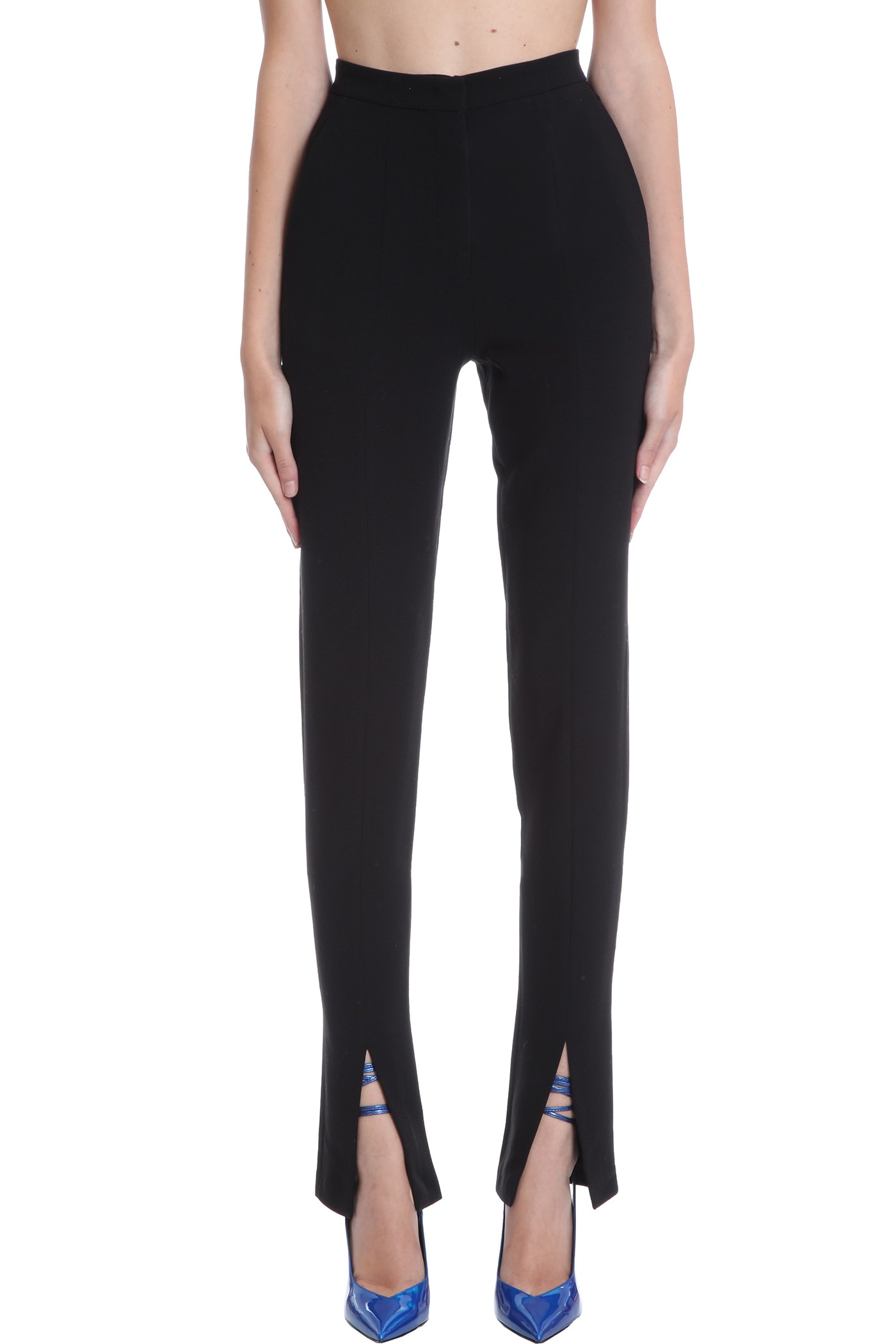 Helena Splitted Pants In Black Polyester