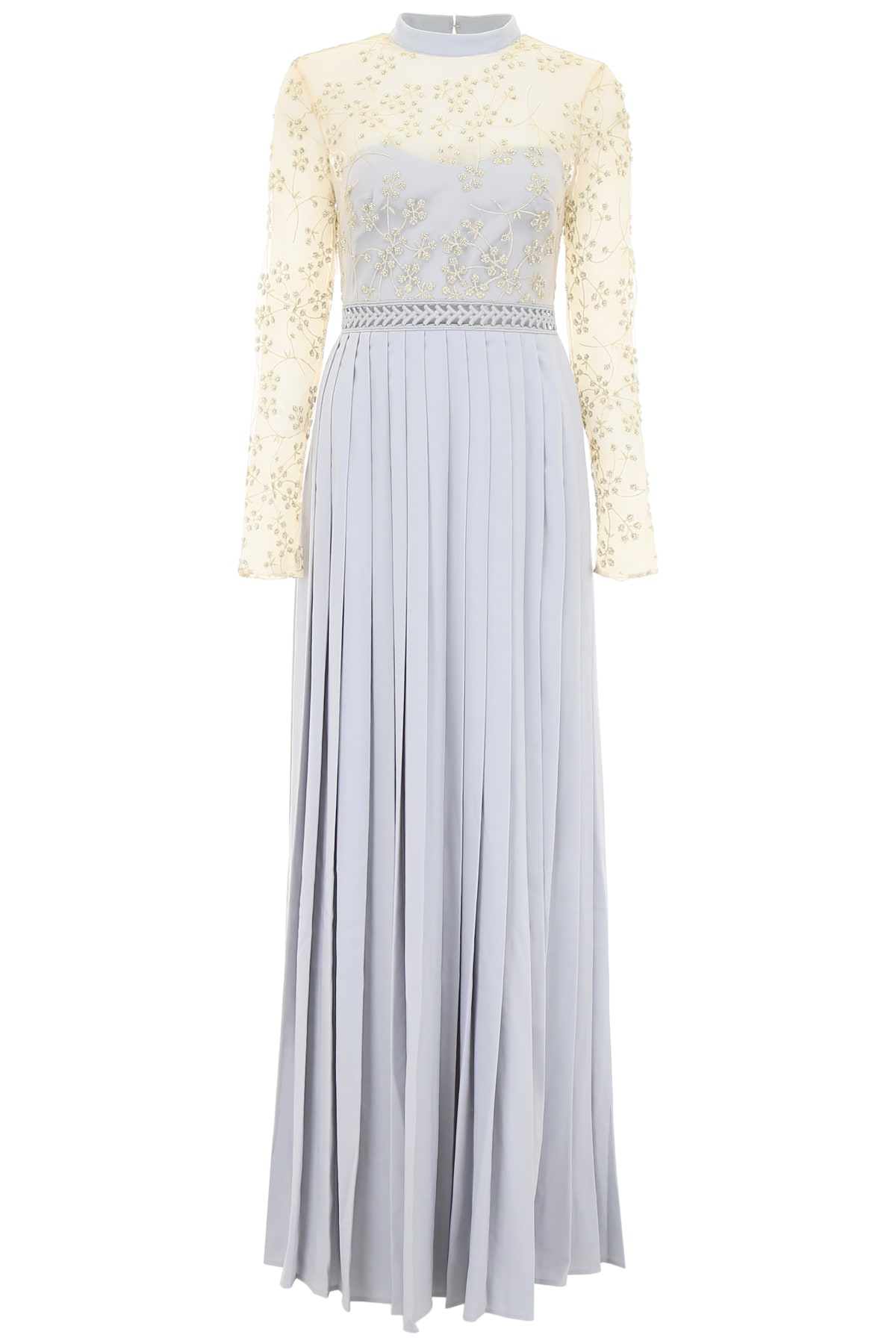 self-portrait Maxi Dress With Lace And Pearls