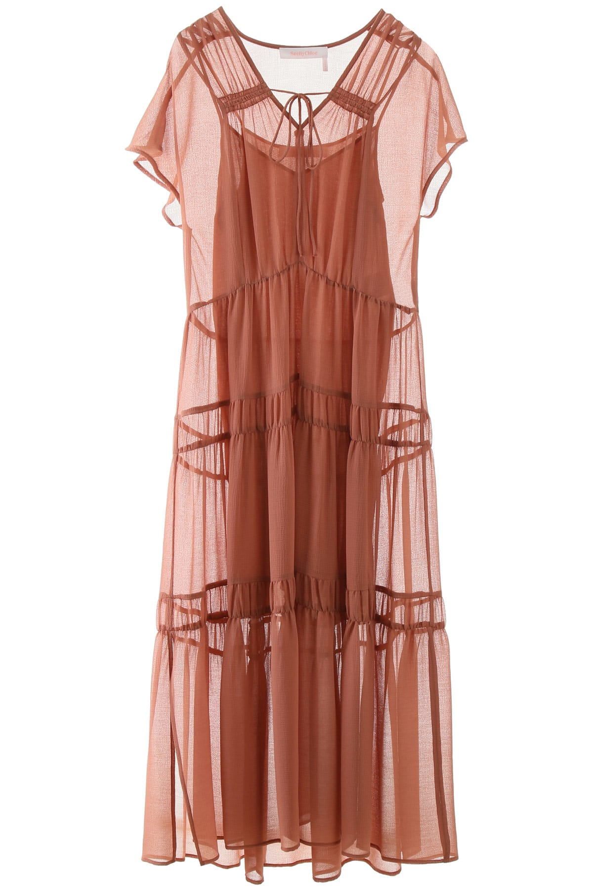 Buy See by Chloé Tiered Dress online, shop See by Chloé with free shipping