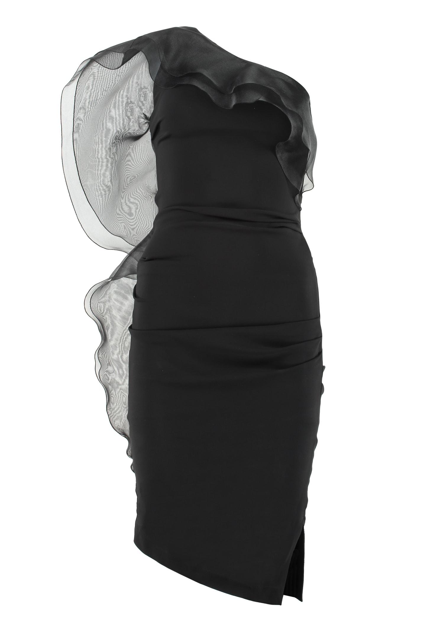 Buy Elisabetta Franchi Ruffled One-shoulder Dress online, shop Elisabetta Franchi with free shipping