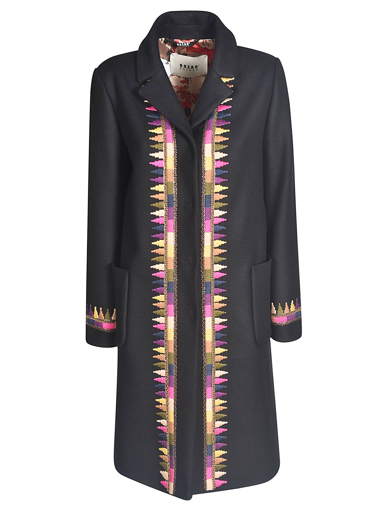 Concealed Long Coat from Bazar DeluxeComposition: 50% Acrylic, 20% Wool, 25% Polyester, 5% Other Fibers
