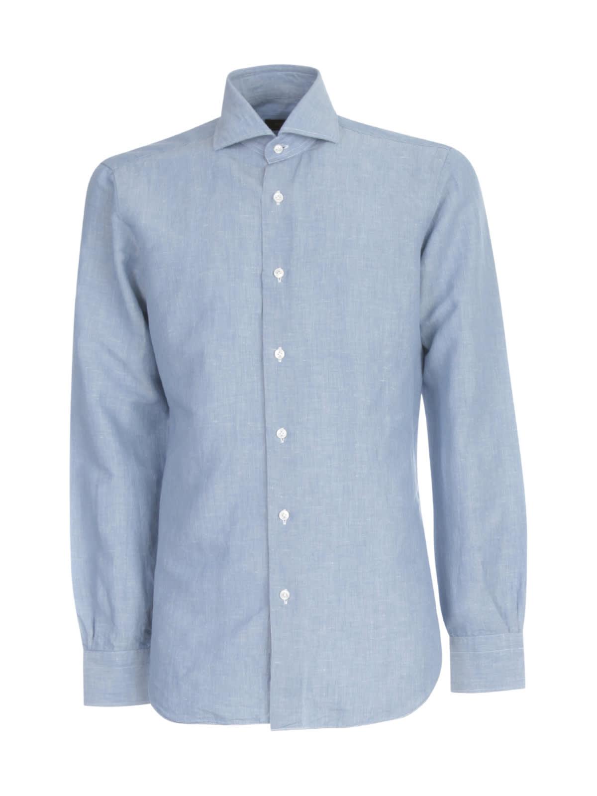 Shirt W/effect Denim On Neck