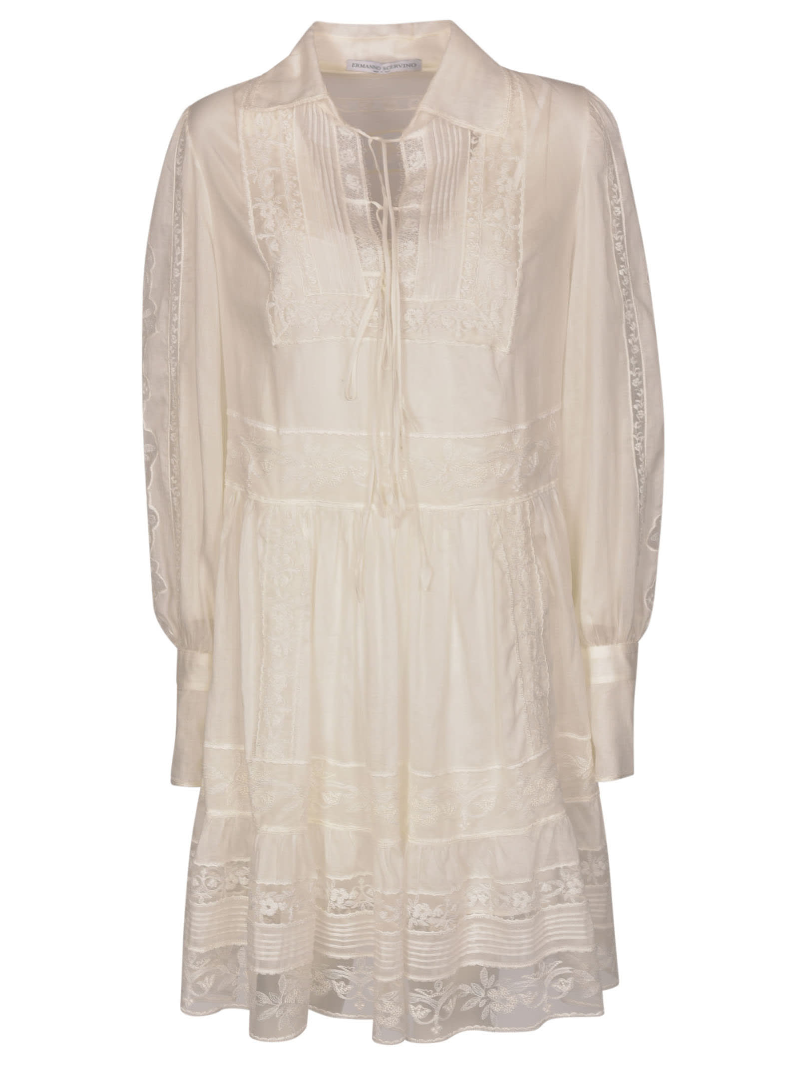 Buy Ermanno Scervino Lace Paneled Dress online, shop Ermanno Scervino with free shipping