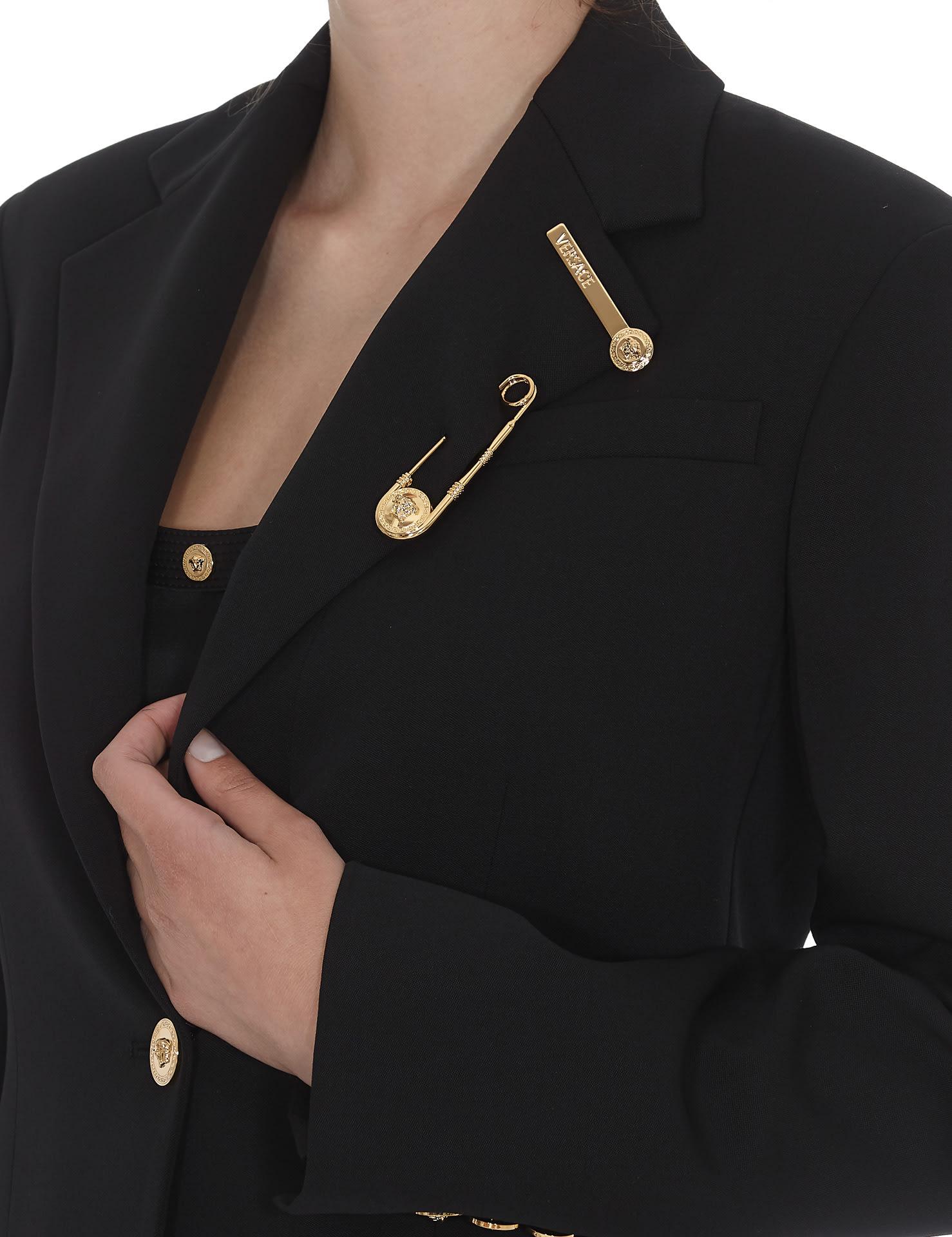 b773230c0d Versace Medusa Safety Pin Logo Blazer