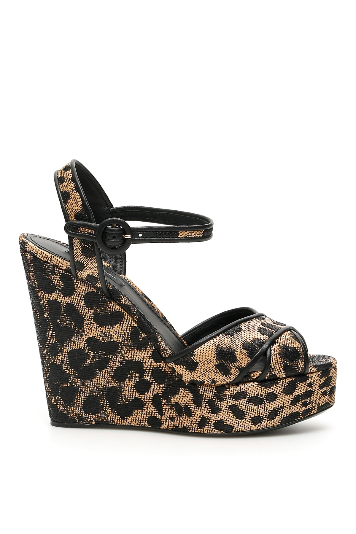 Dolce & Gabbana Bianca Animalier Wedge Sandals