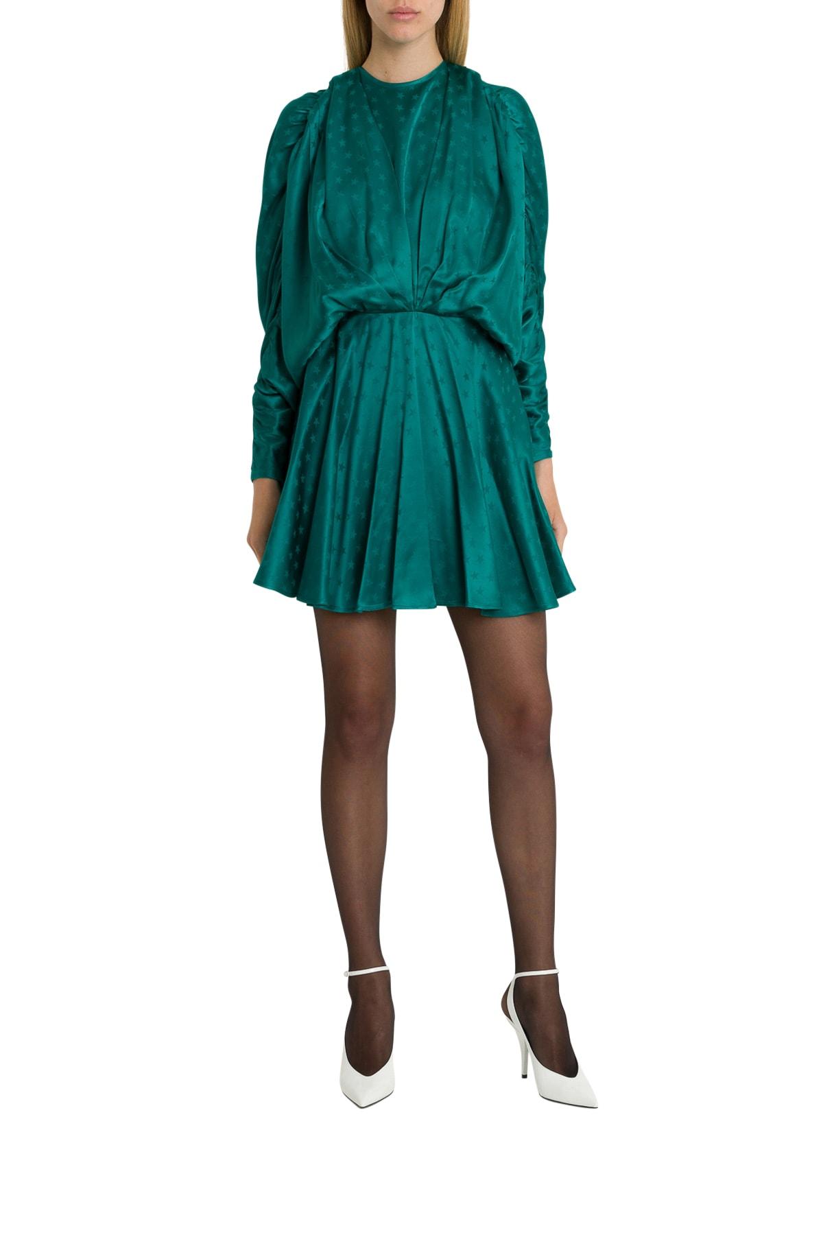 The Attico Jacquard Satin Mini Dress