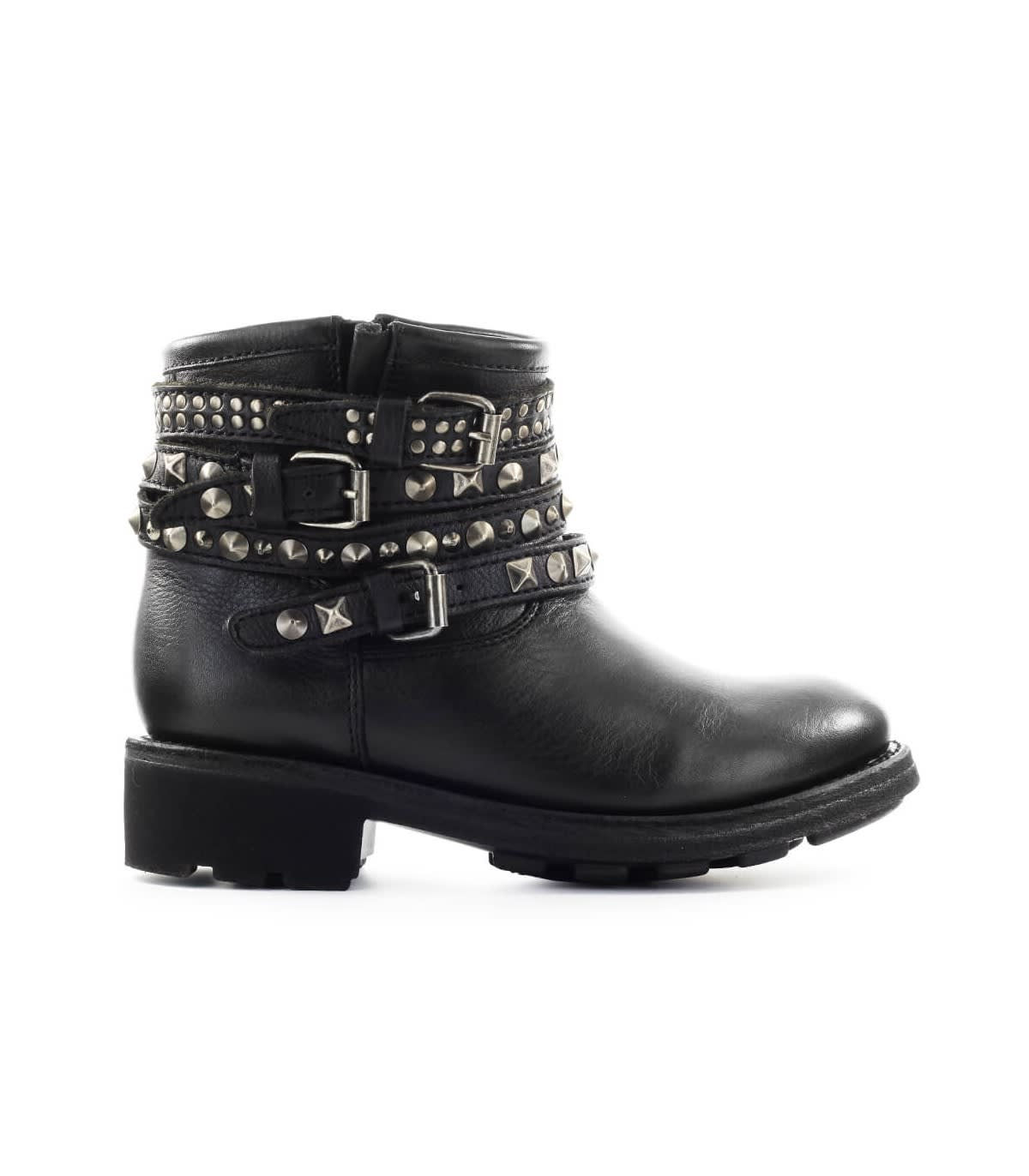 Ash Leathers TATUM BLACK NAPPA LEATHER ANKLE BOOT