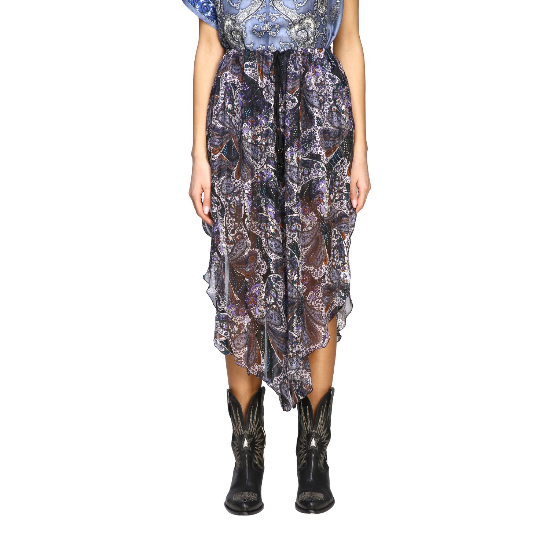Etro Skirt Etro Printed Skirt With Drawstring