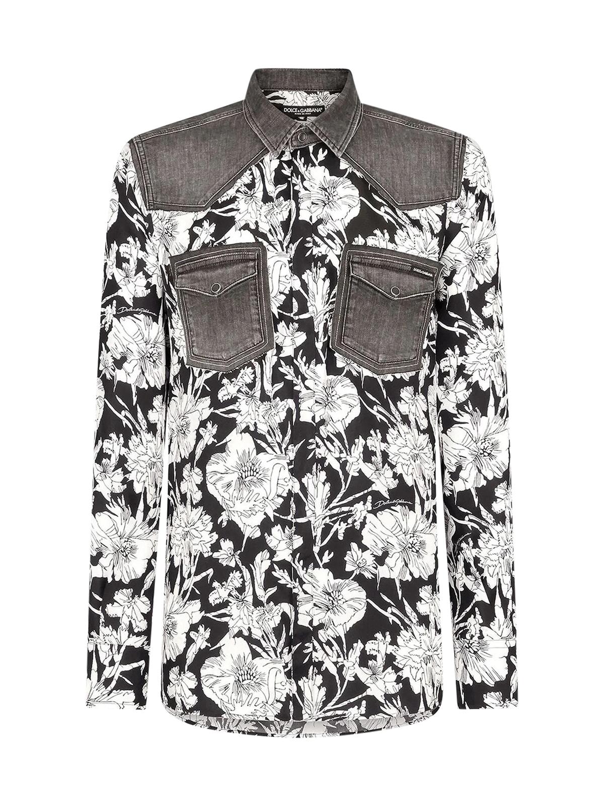 Dolce & Gabbana Silks SHIRT FLOWERS