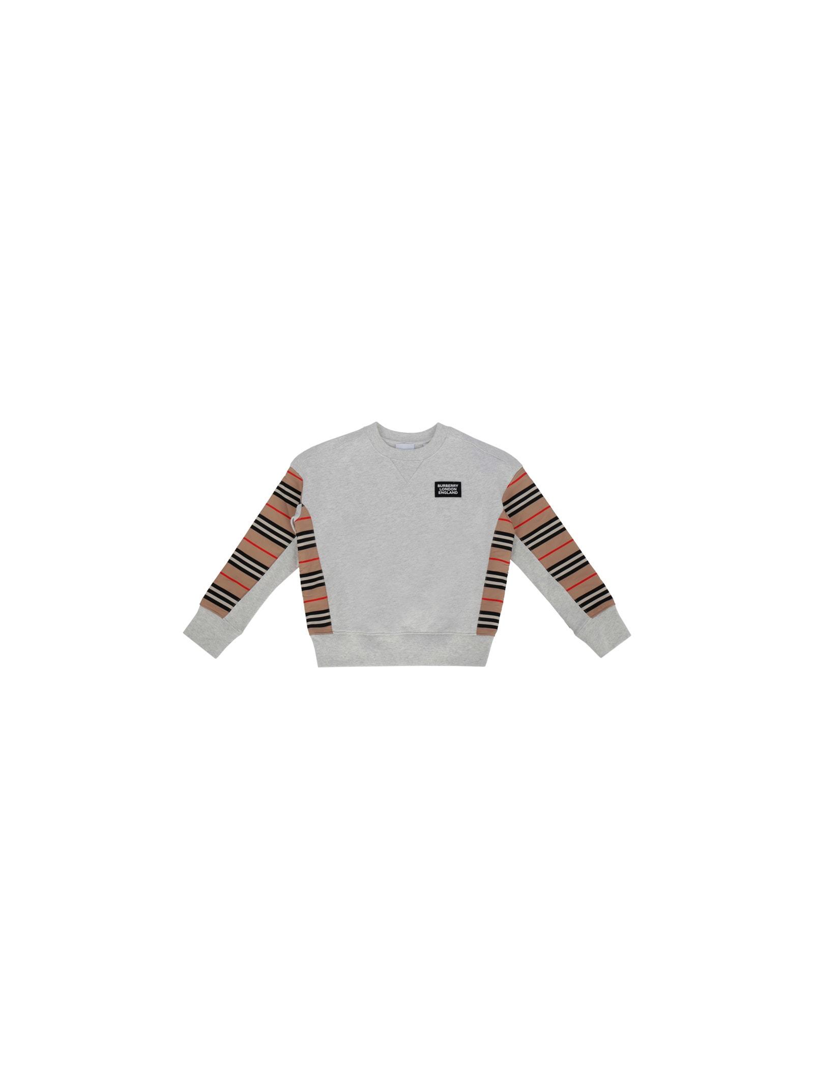 Burberry Kids Sweatshirt In White