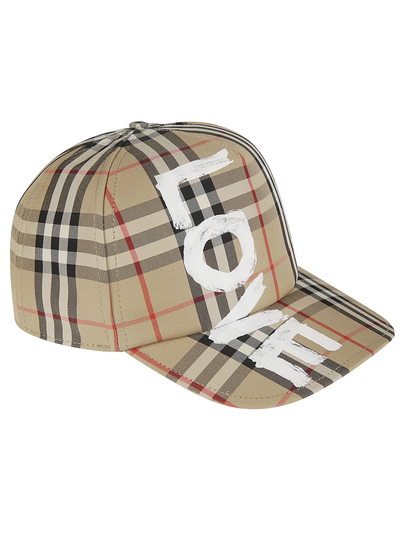 Burberry Caps LOVE PIGMENTED SCREEN PRINT TRUCKER HAT