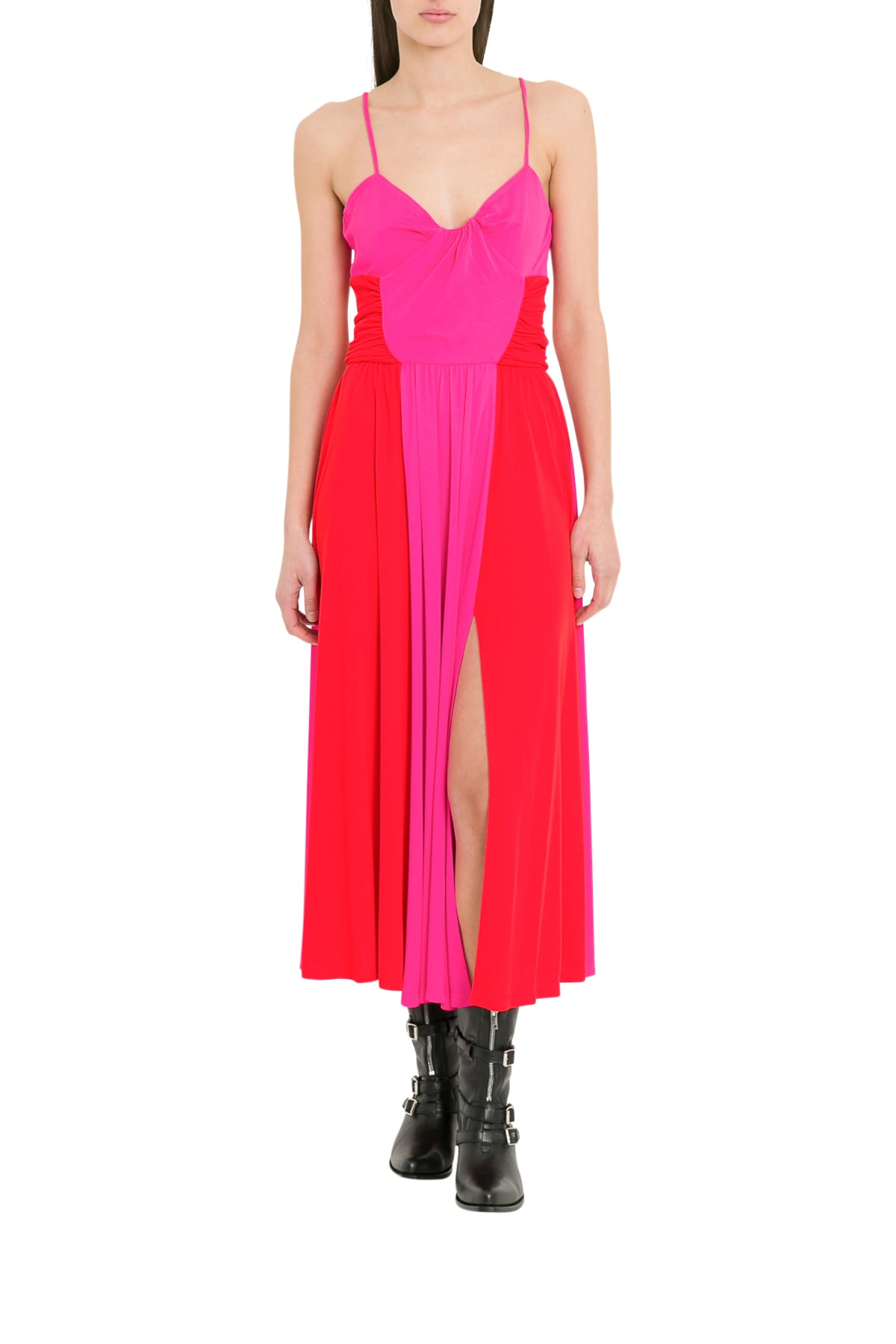 MSGM Two Tone Midi Dress