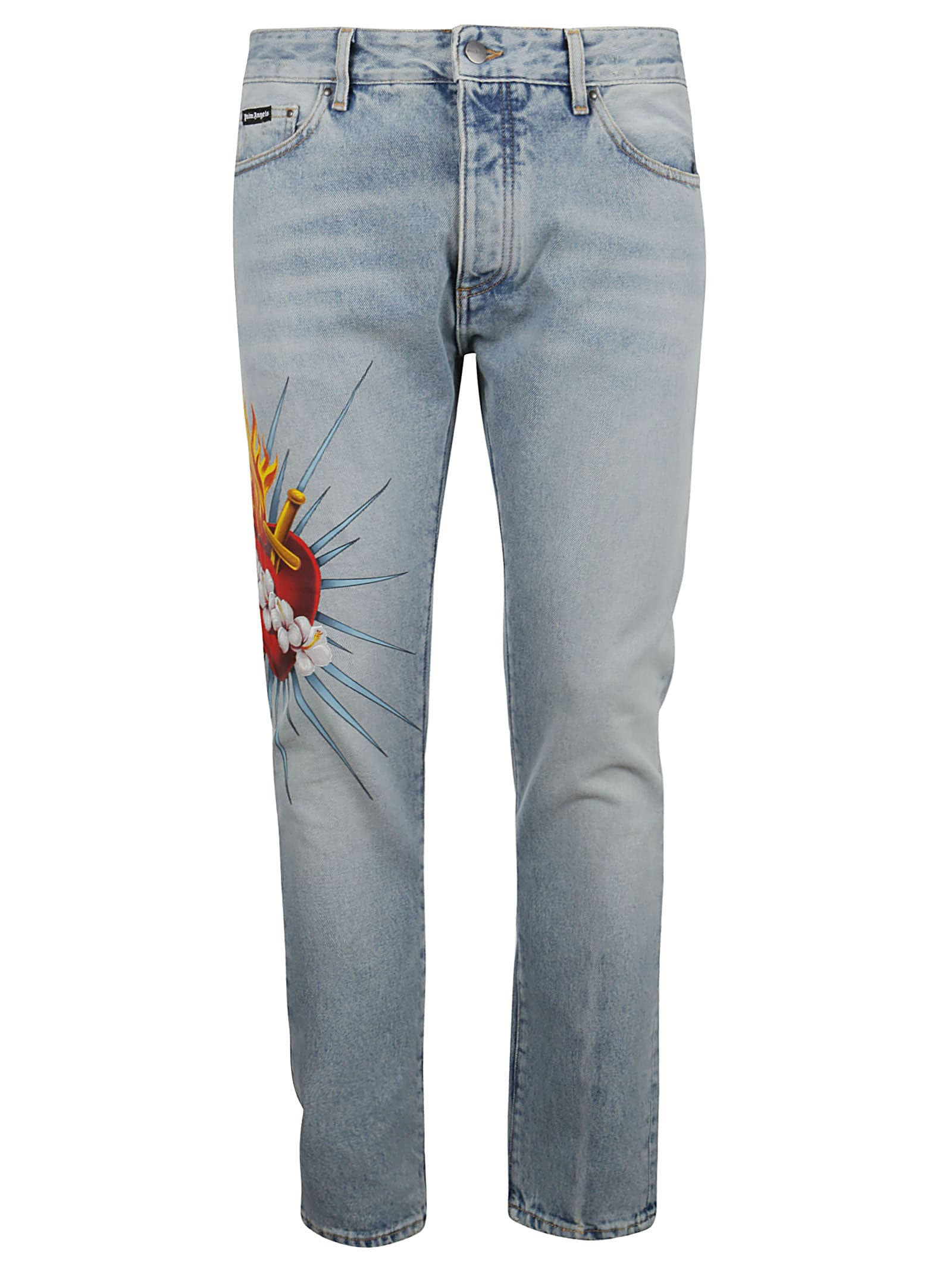 Palm Angels Jeans JEANS SACRED HEART 5 POCKETS