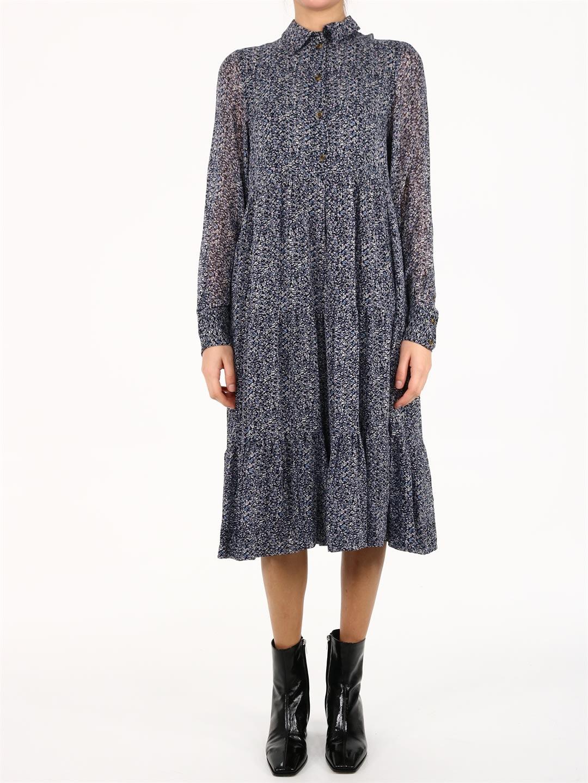 Ganni Floral Georgette Dress