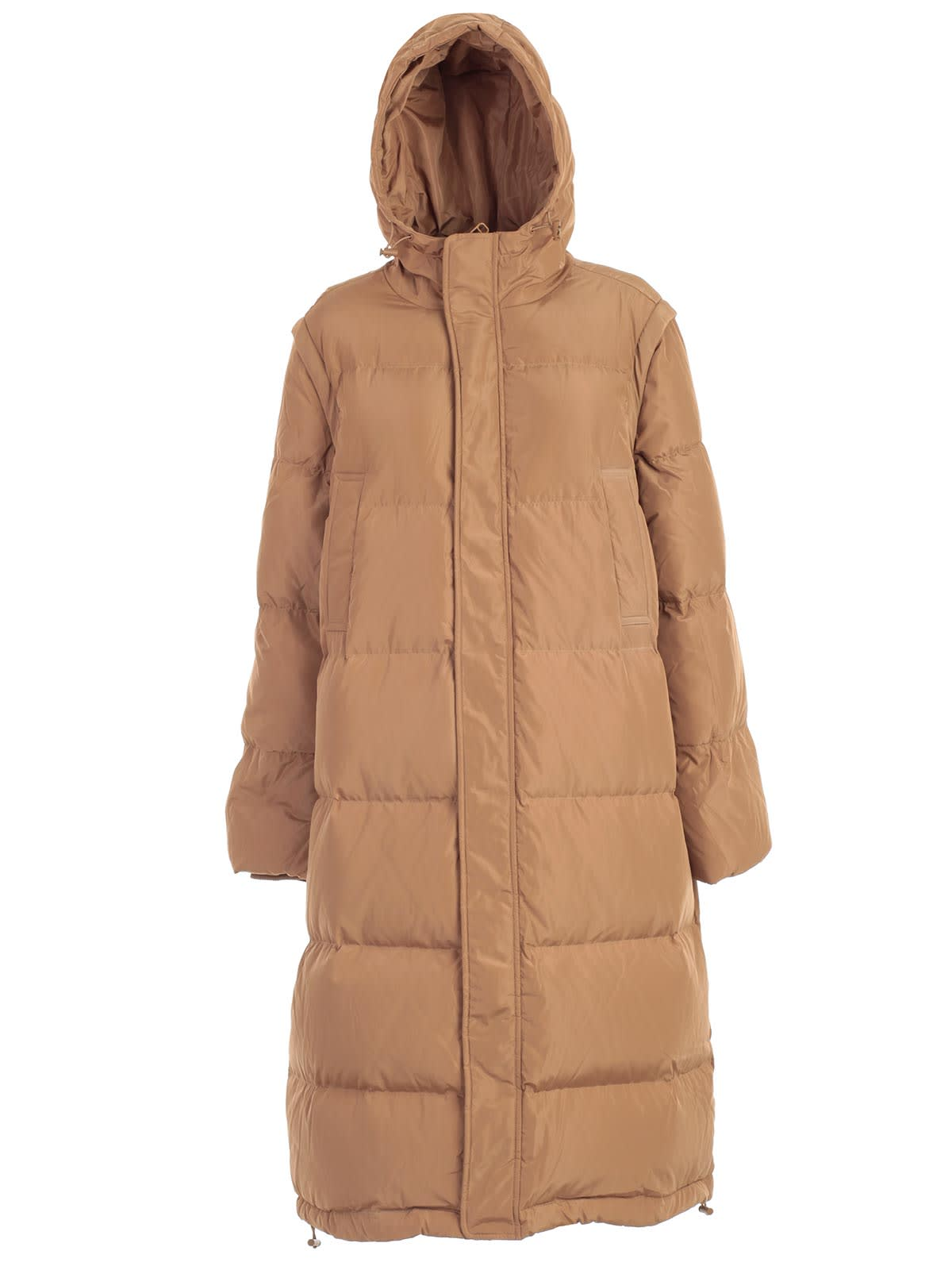 Ganni Padded Jacket W/hood And Pockets