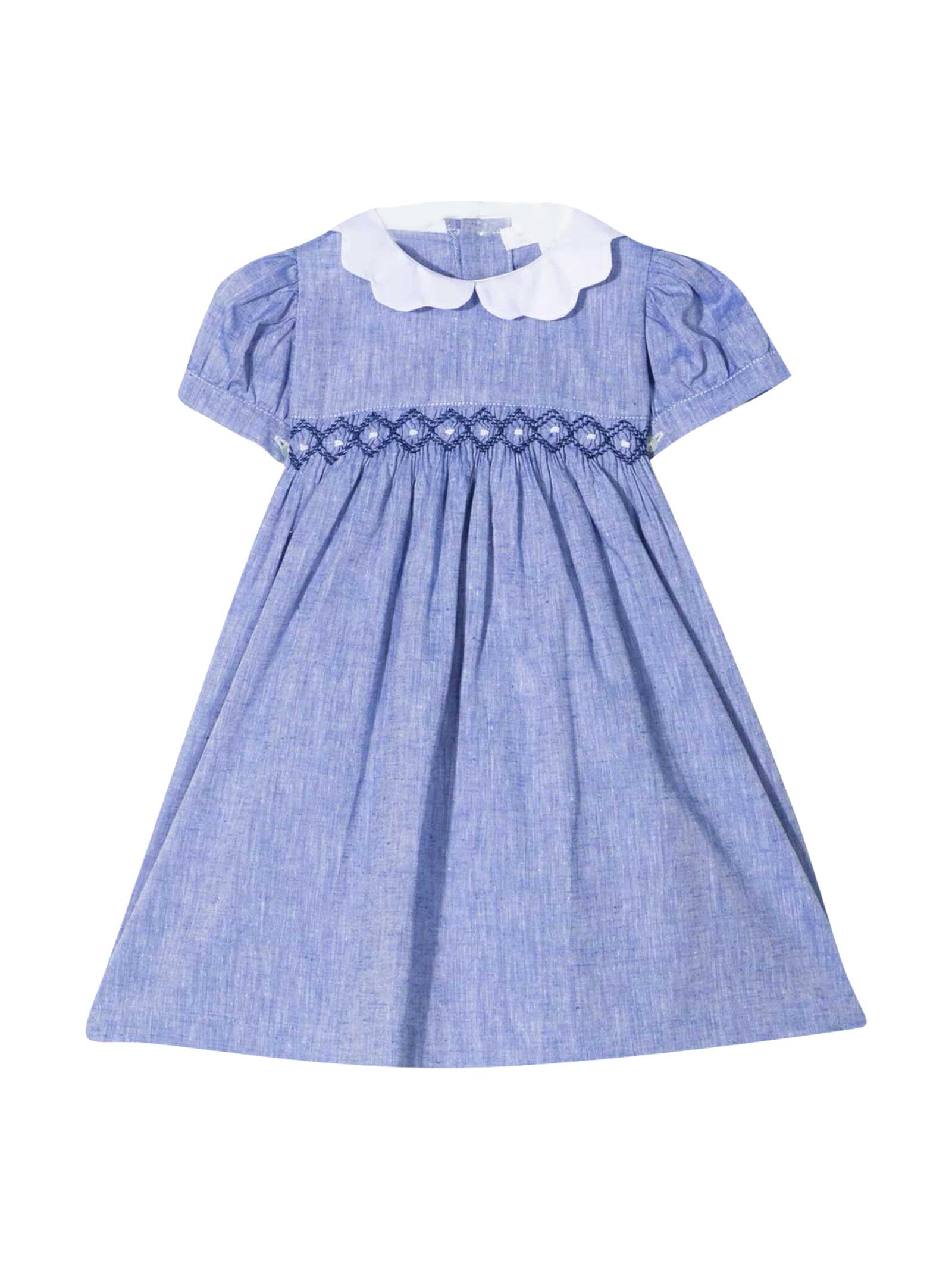 Midi Dress With Kids Embroidery