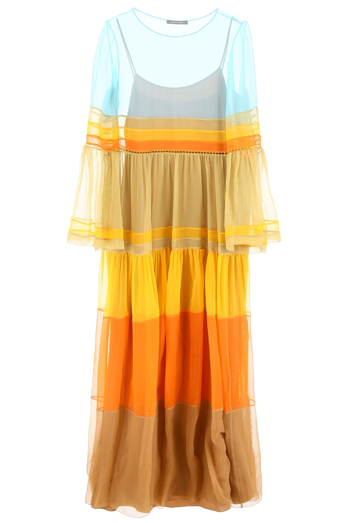 Alberta Ferretti Multicolor Dress