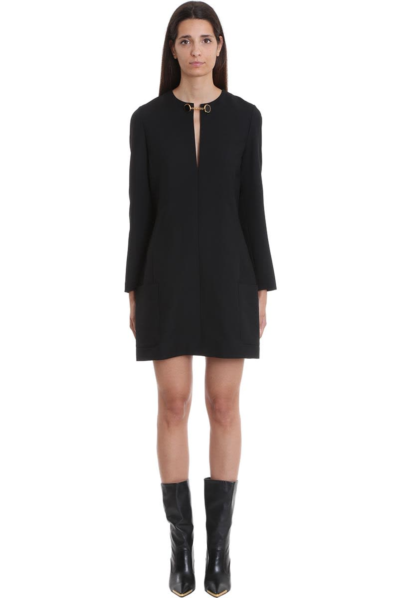 Stella McCartney Sarina Dress In Black Wool