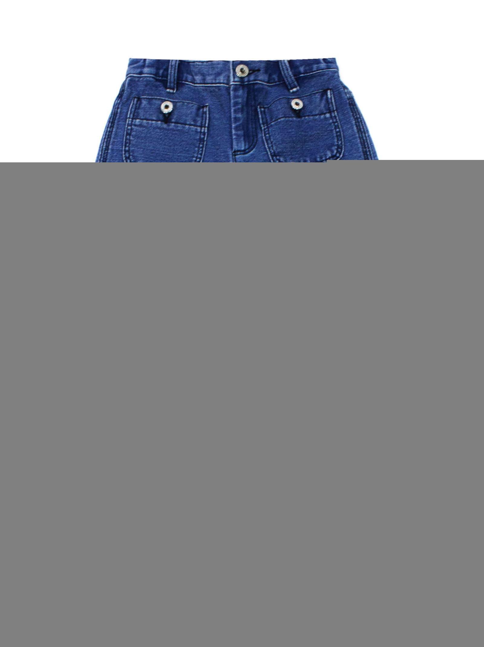 Burberry Kids' Blue Cotton-linen Blend Logo Print Jeans