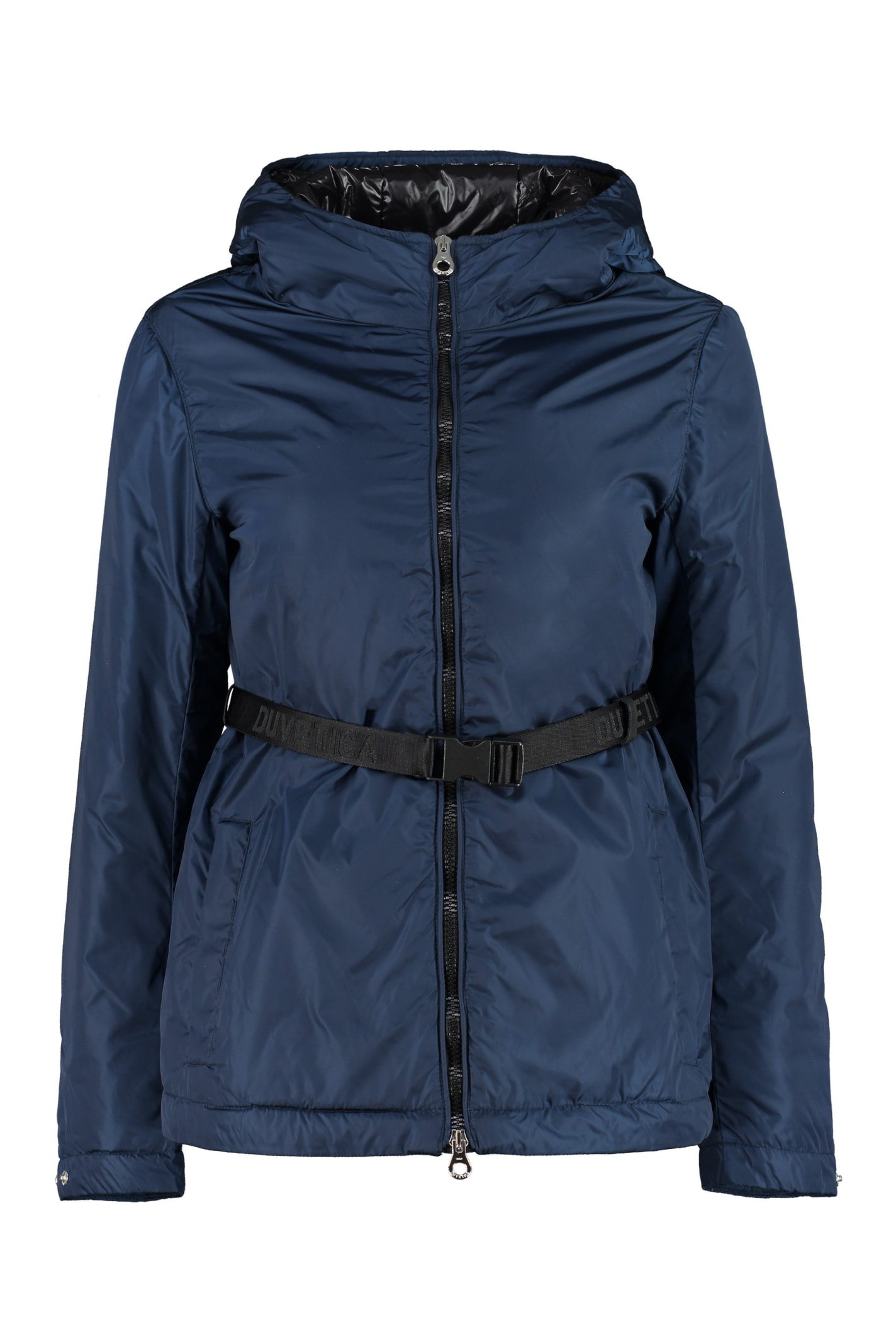 Comona Belted Hooded Down Jacket
