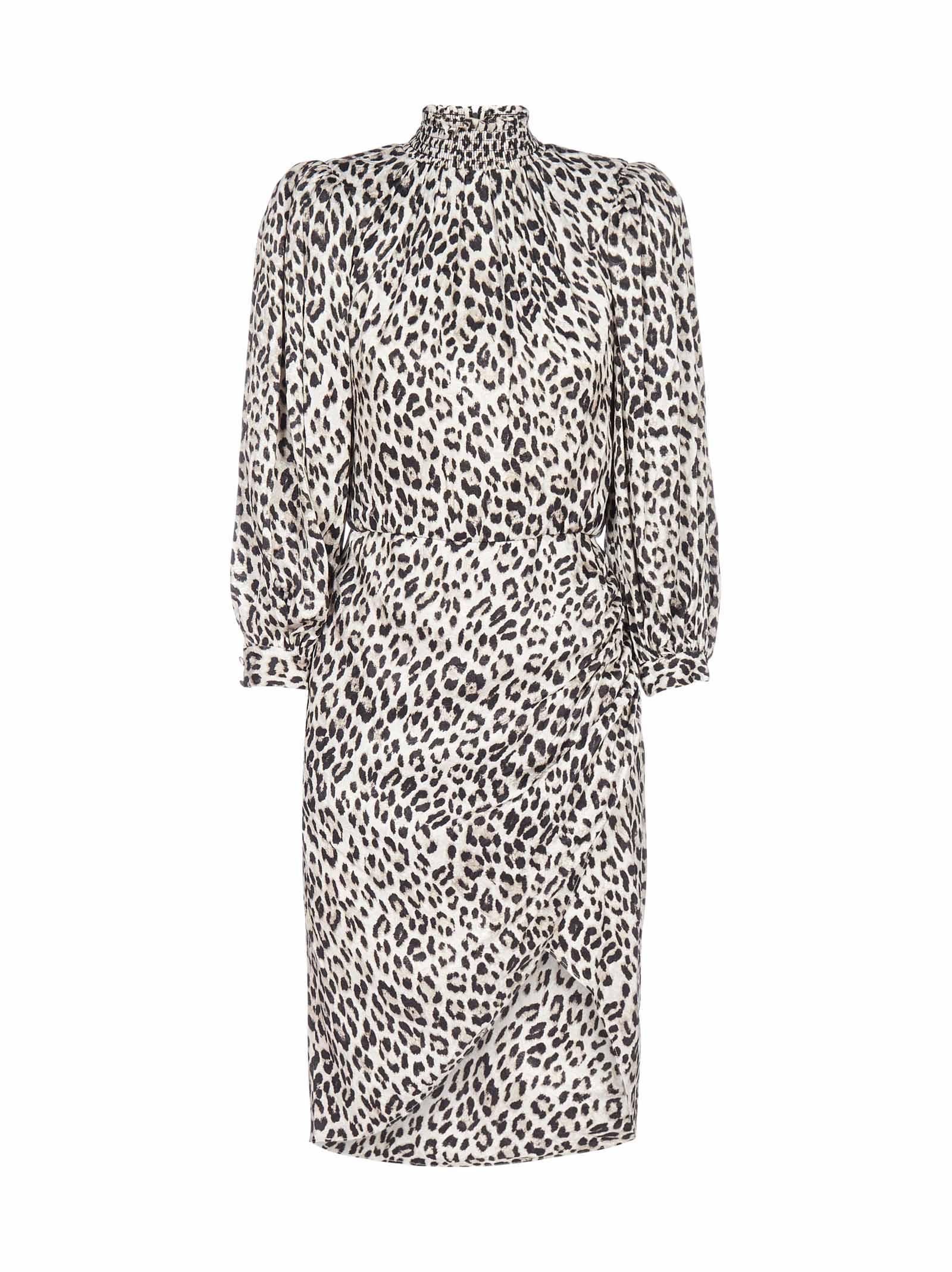 Buy Alice + Olivia Jerilyn Leopard Print Viscose-blend Dress online, shop Alice + Olivia with free shipping
