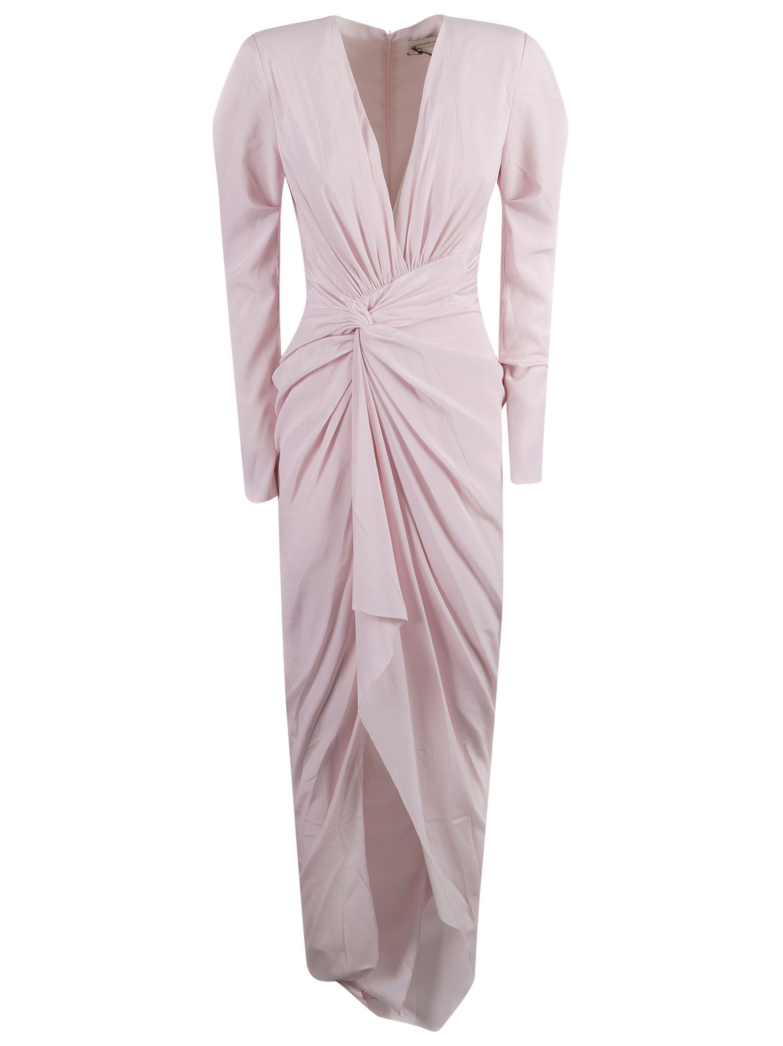 Buy Alexandre Vauthier Wrap V-neck Long Dress online, shop Alexandre Vauthier with free shipping