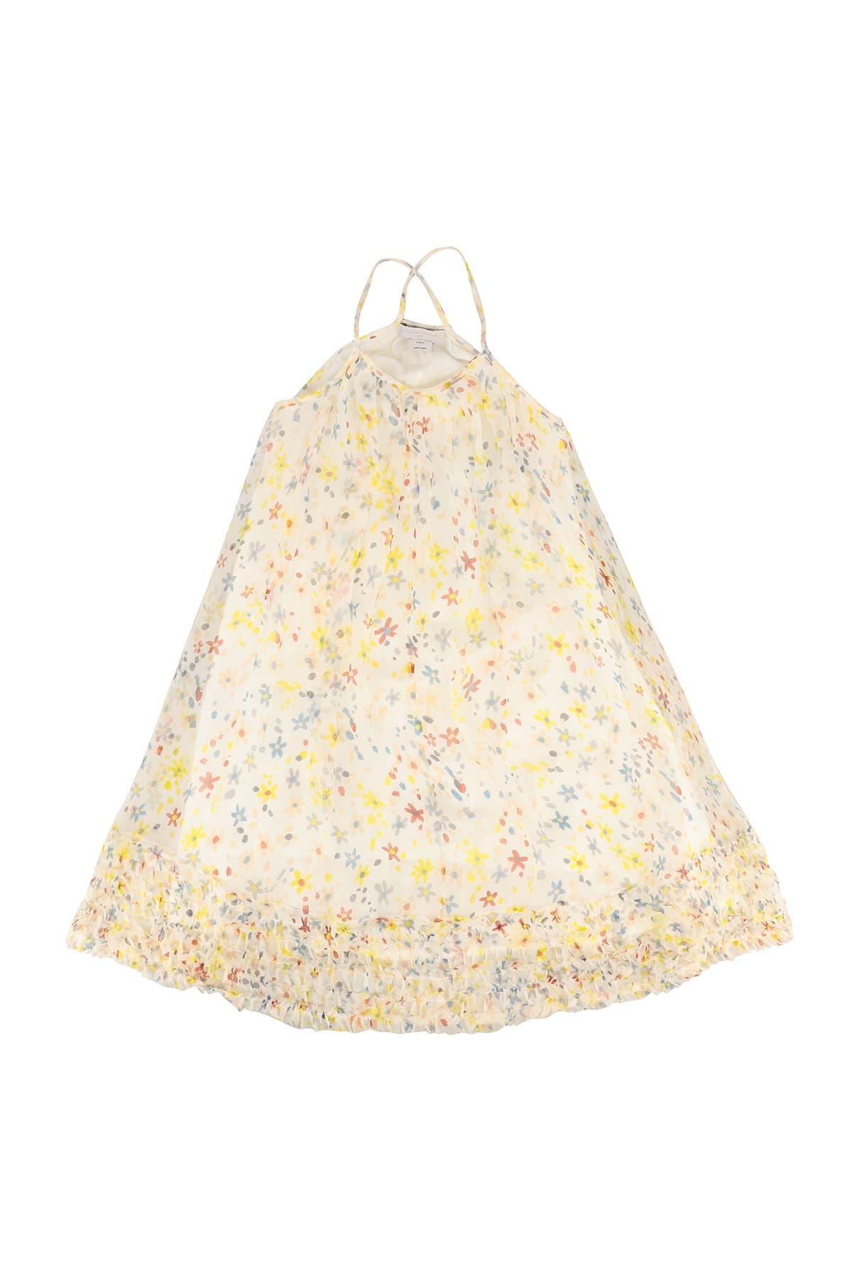 Buy Stella McCartney Kids Splash Flowers Silk Dress online, shop Stella McCartney Kids with free shipping