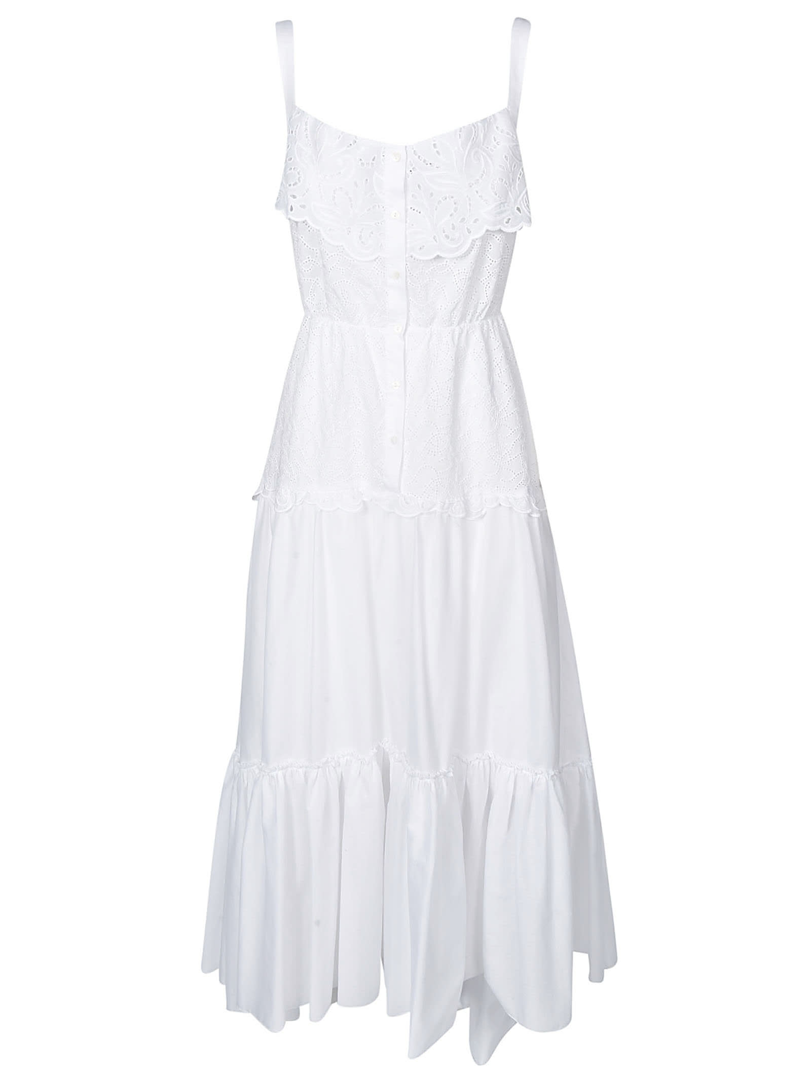 Buy Ermanno Scervino Sleeveless Long Laced Dress online, shop Ermanno Scervino with free shipping