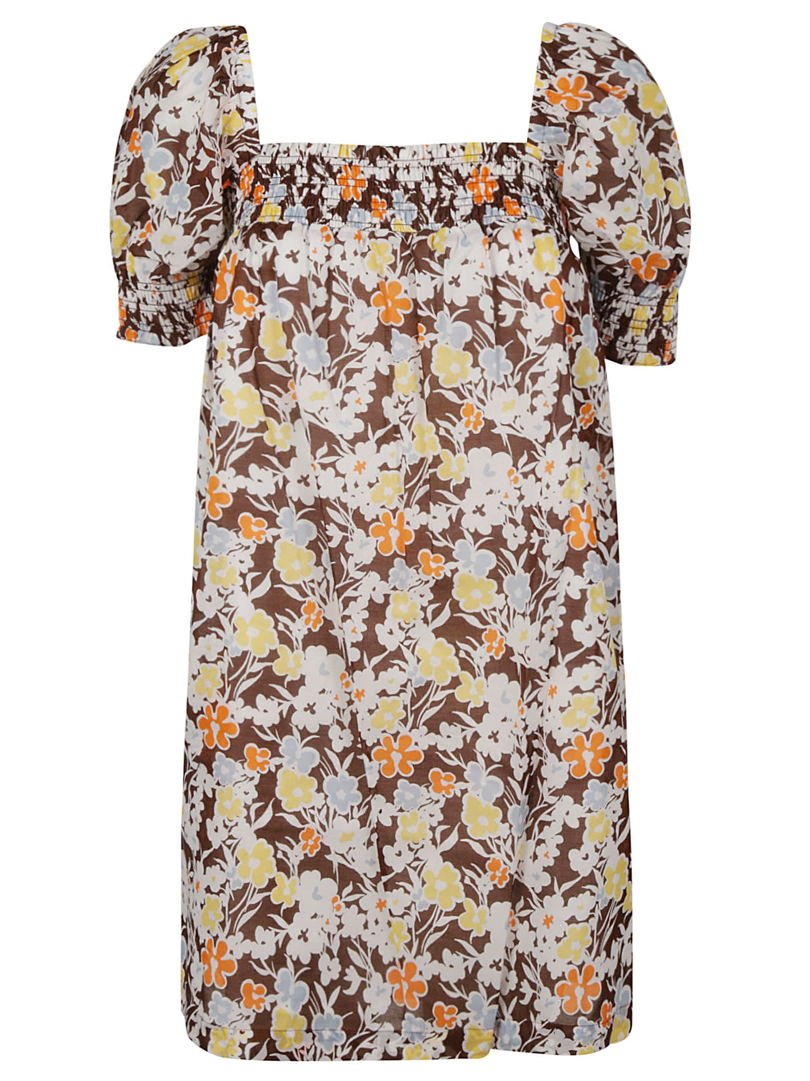 Buy Tory Burch Smocked Mini Dress online, shop Tory Burch with free shipping