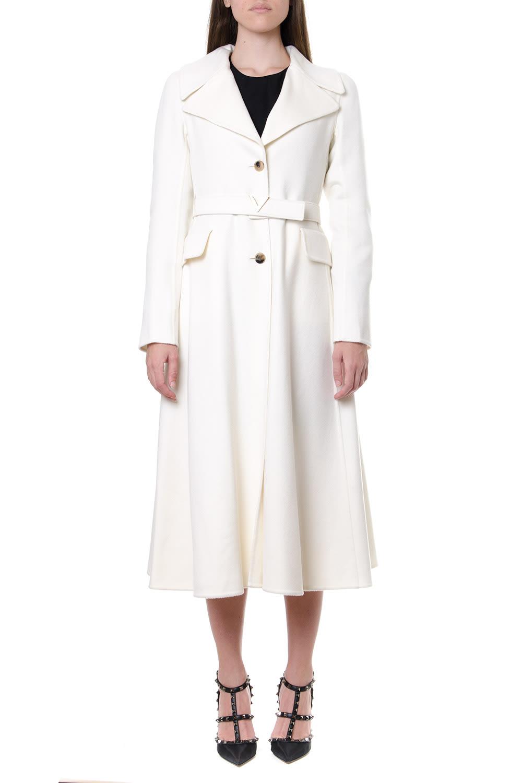 Valentino Ivory Cashmere Coat With V Belt