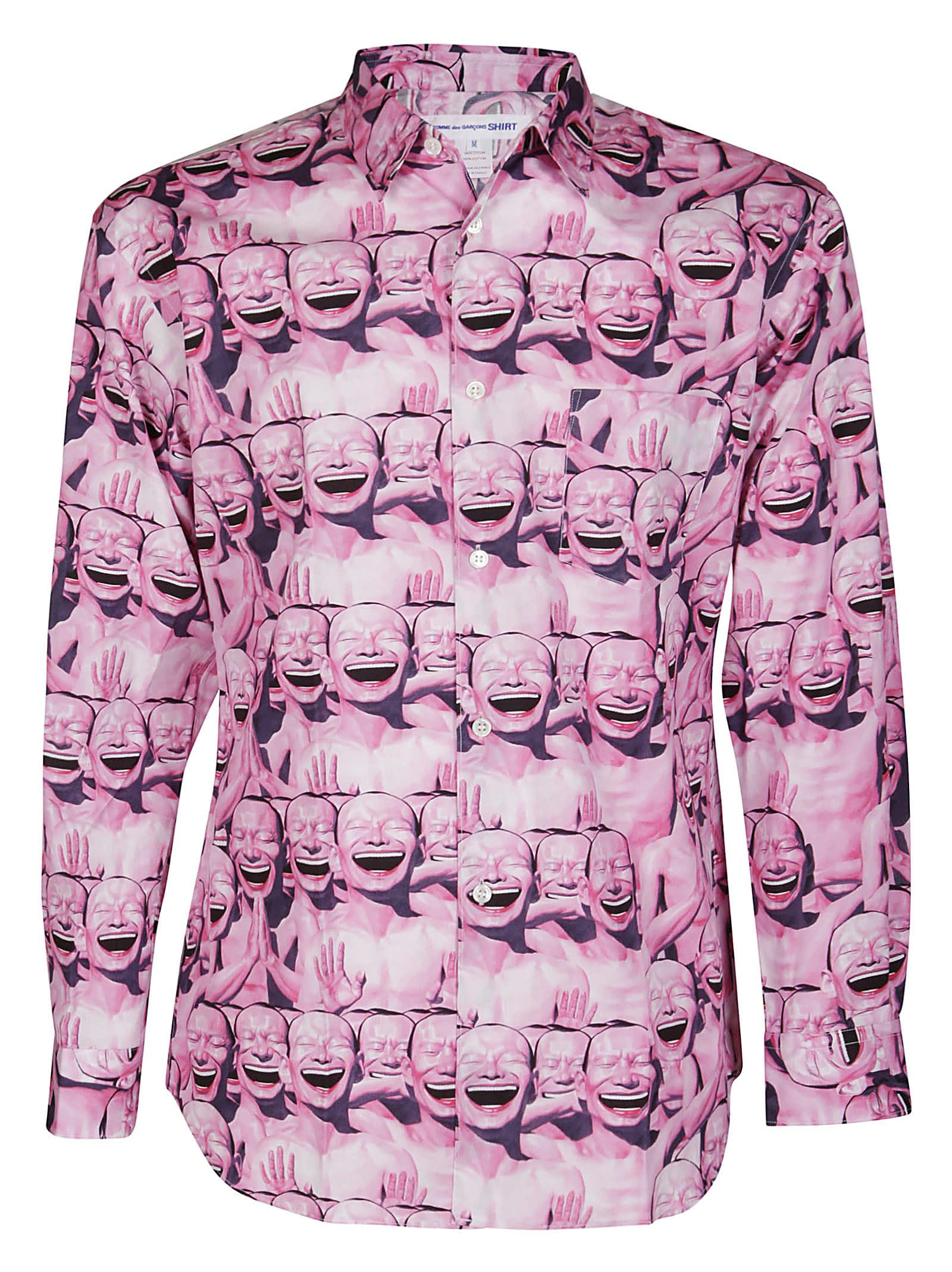 Comme Des Garçons Shirt Clothing PINK COTTON SHIRT