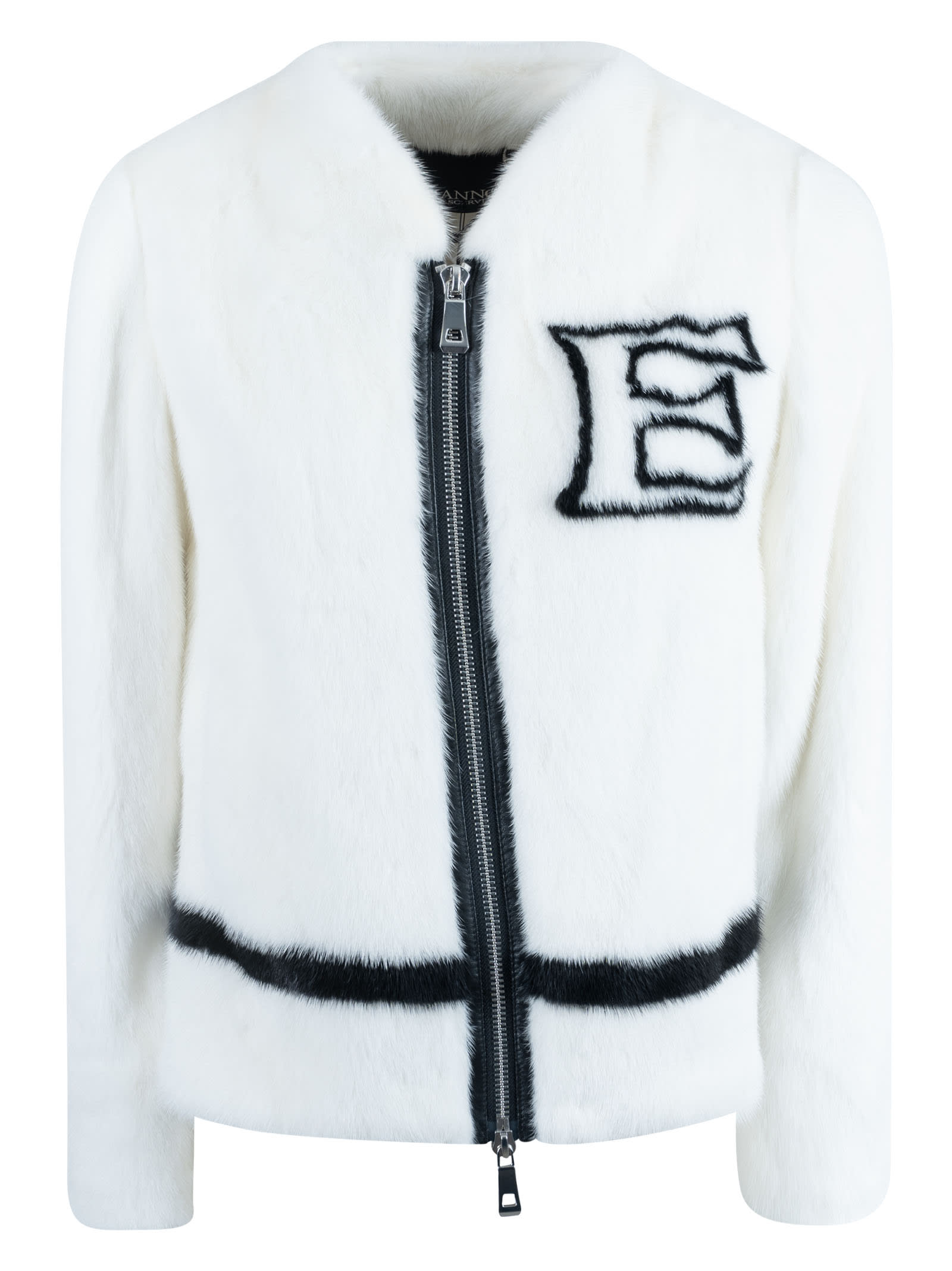 Ermanno Scervino Fur Applique Zipped Jacket