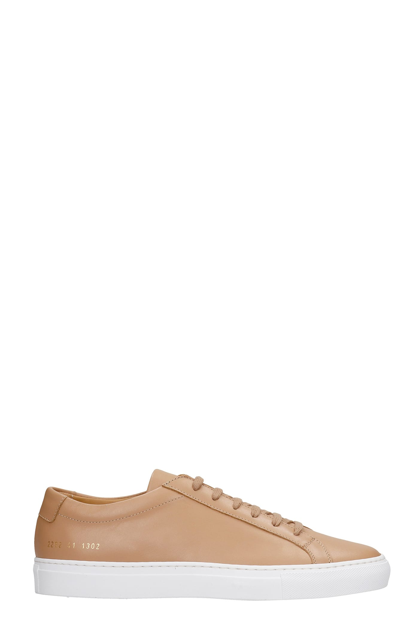 Common Projects ACHILLE SNEAKERS IN LEATHER COLOR LEATHER