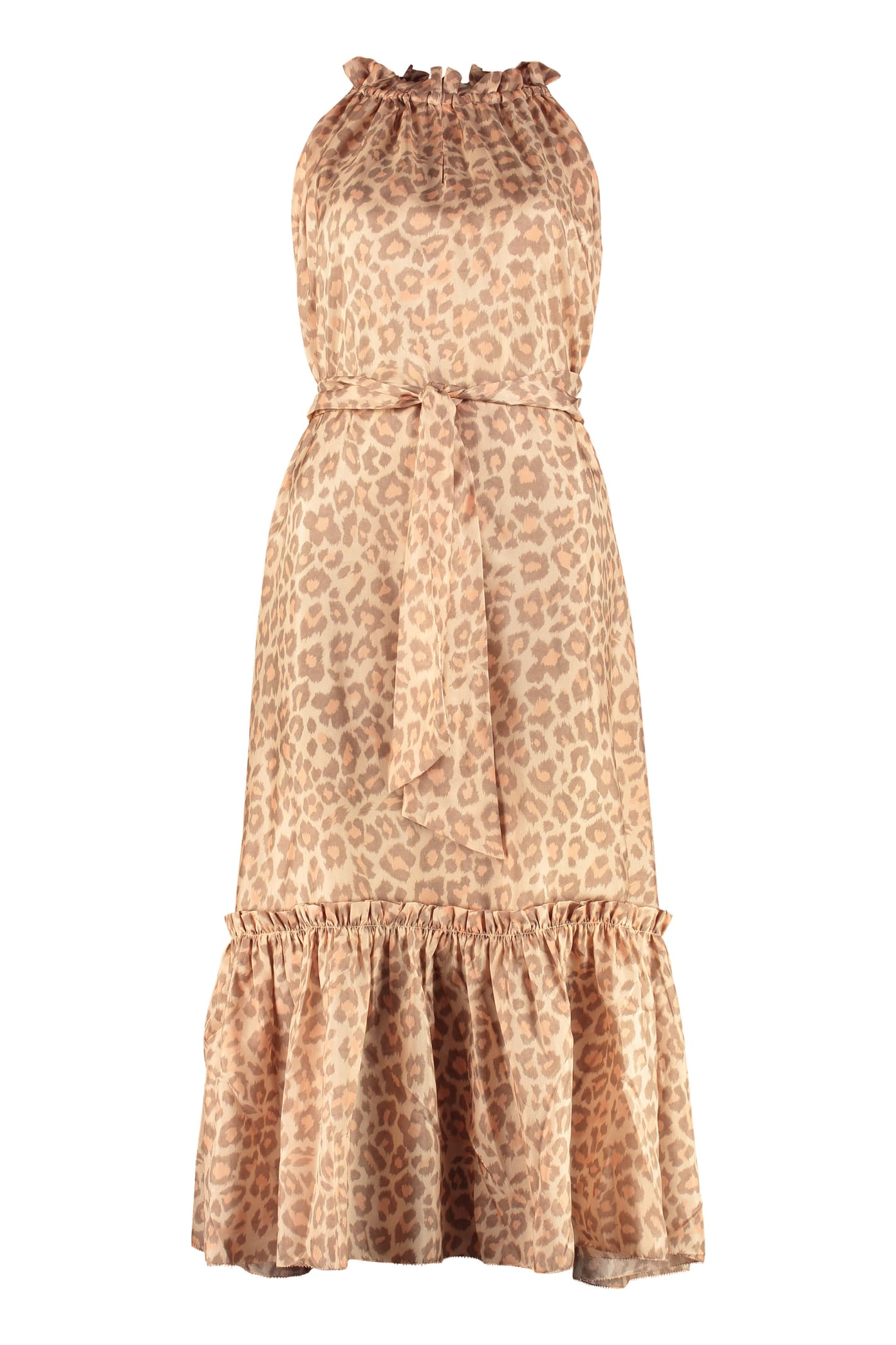 Buy Zimmermann Kirra Printed Dress With Wrinkles online, shop Zimmermann with free shipping
