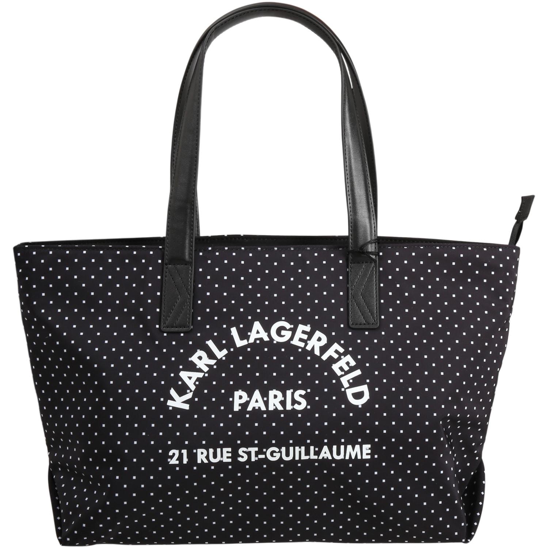 Black Bag For Girl With Logo