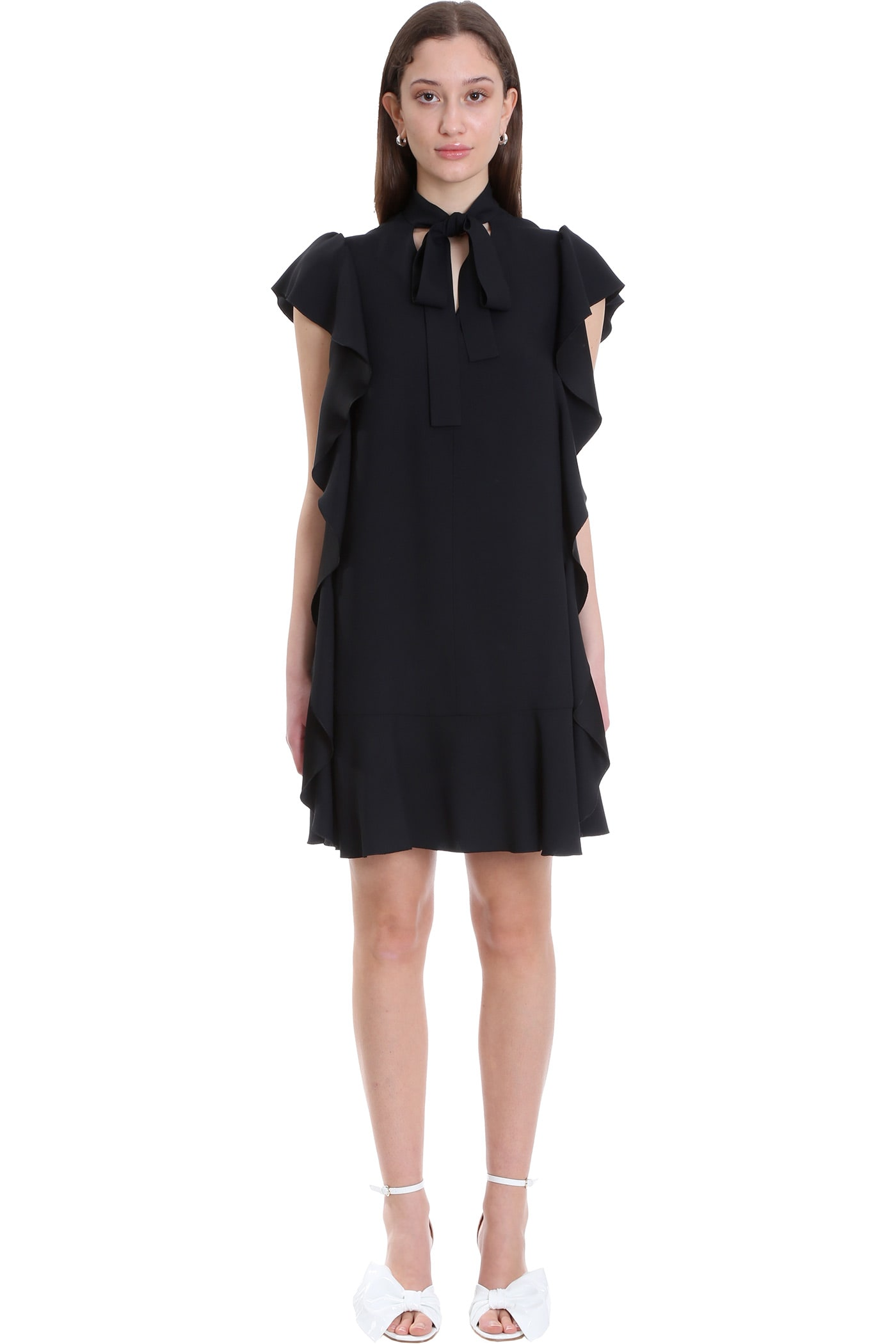 Buy RED Valentino Dress In Black Viscose online, shop RED Valentino with free shipping