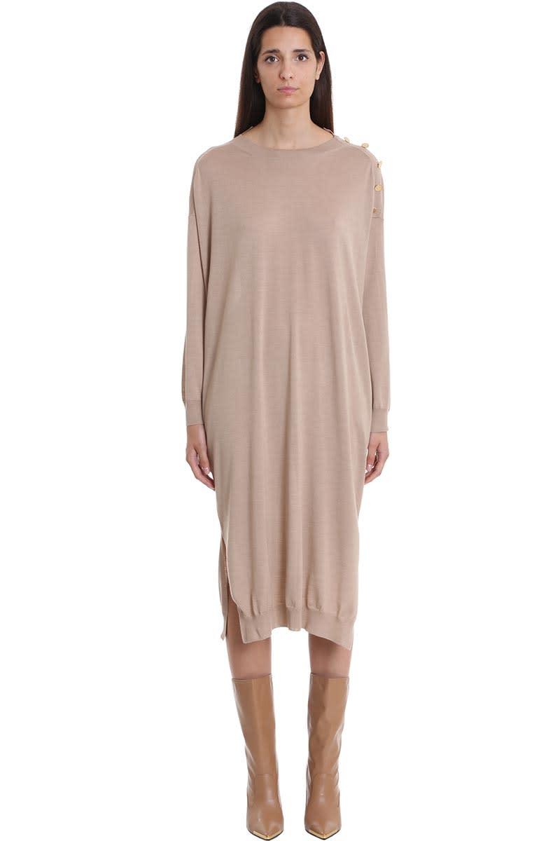 Stella McCartney Dress In Beige Wool