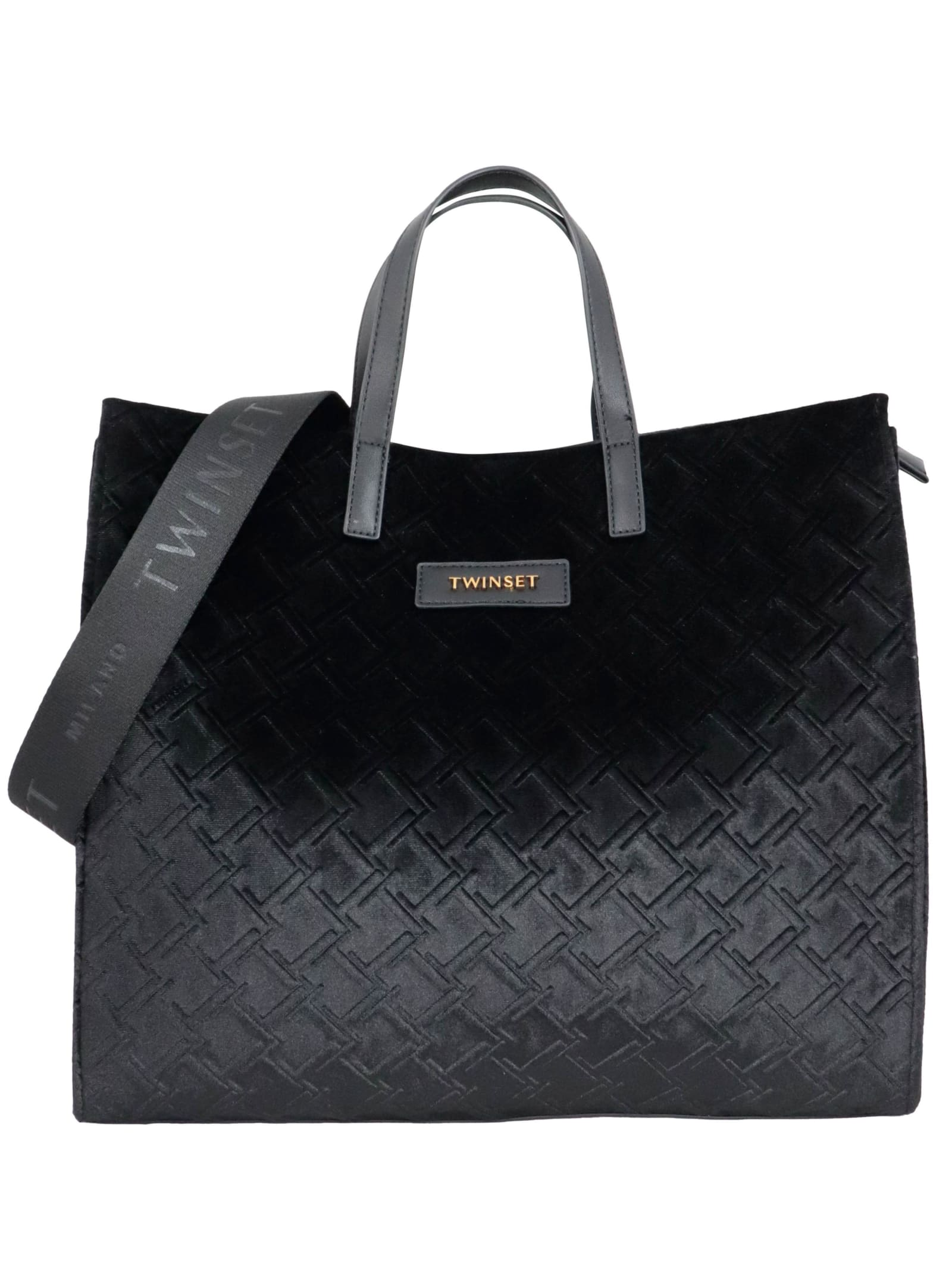 Twinset 100 Pvc Tote In Black