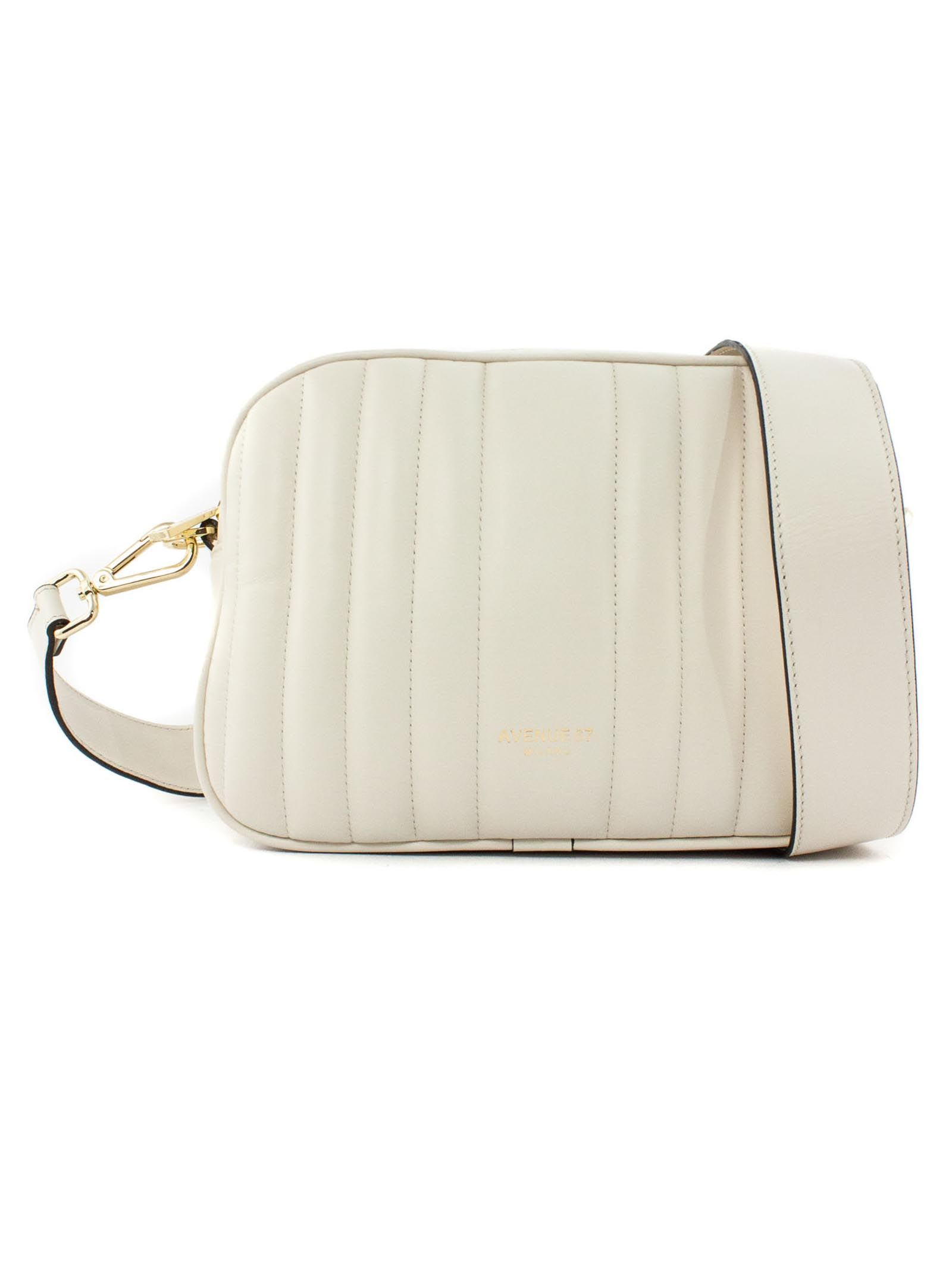 Cloe Small Bag In White Leather