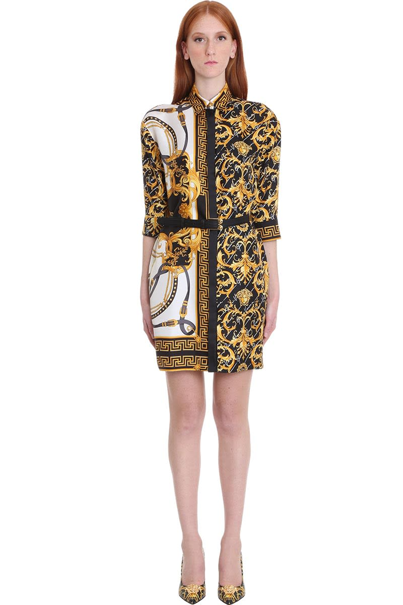 Buy Versace Dress In White Silk online, shop Versace with free shipping
