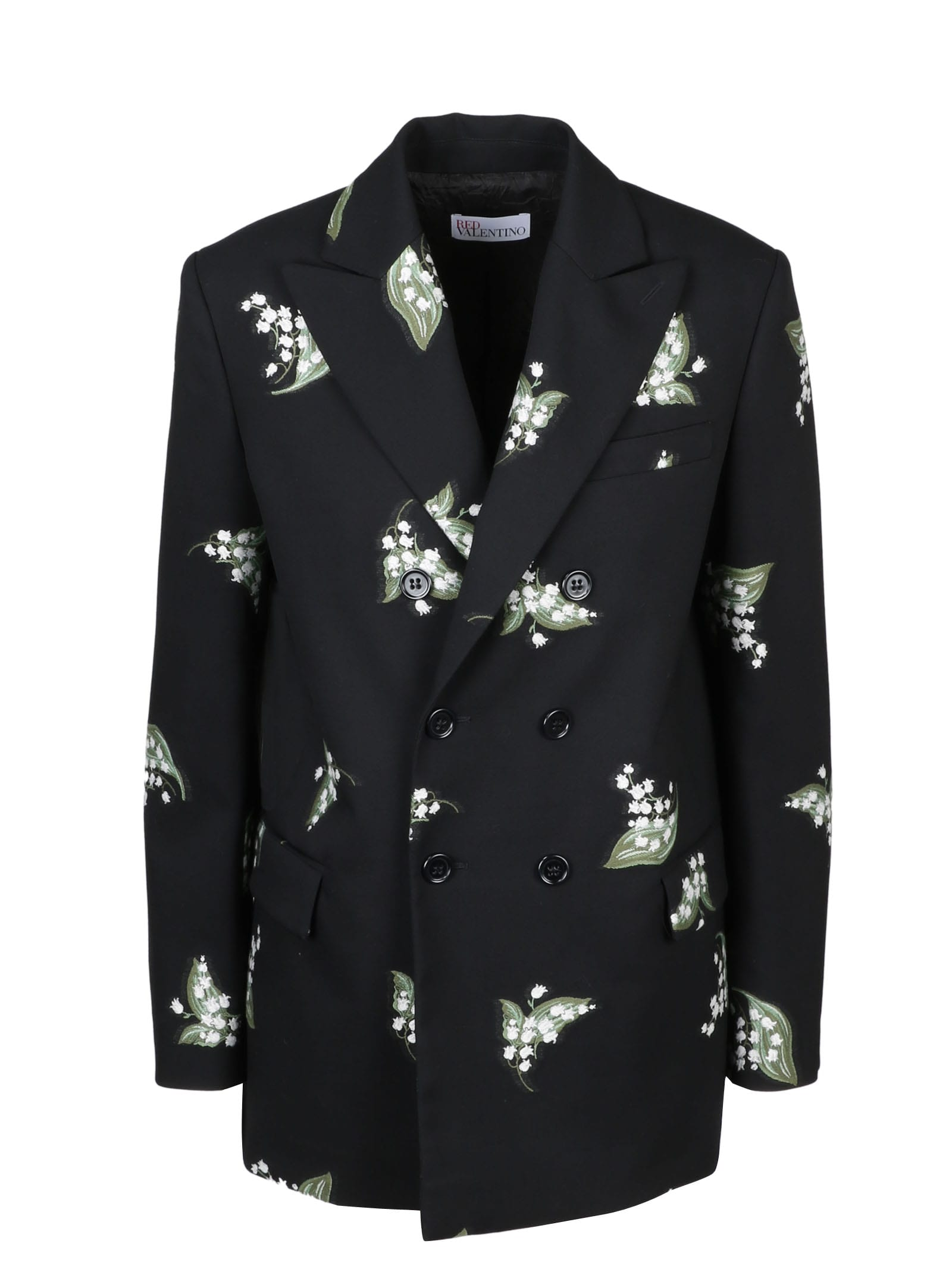 Red Valentino MAY LILY EMBROIDERED BLAZER