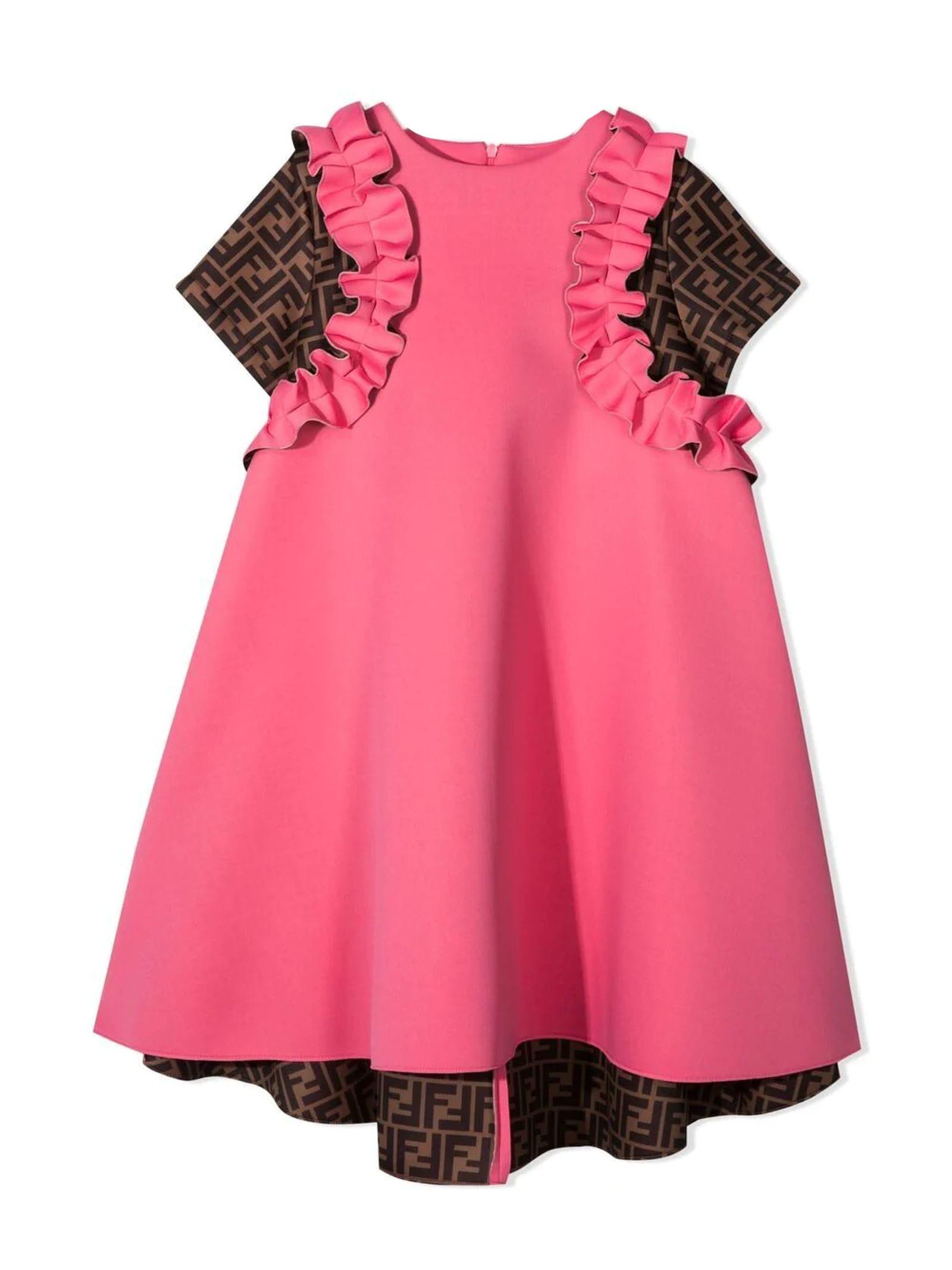 Fendi PINK AND BROWN DRESS