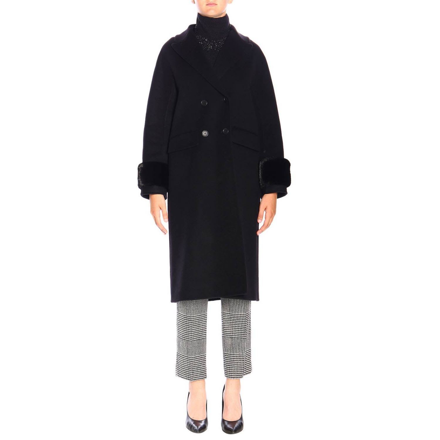Photo of  Ermanno Scervino Coat Coat Women Ermanno Scervino- shop Ermanno Scervino jackets online sales