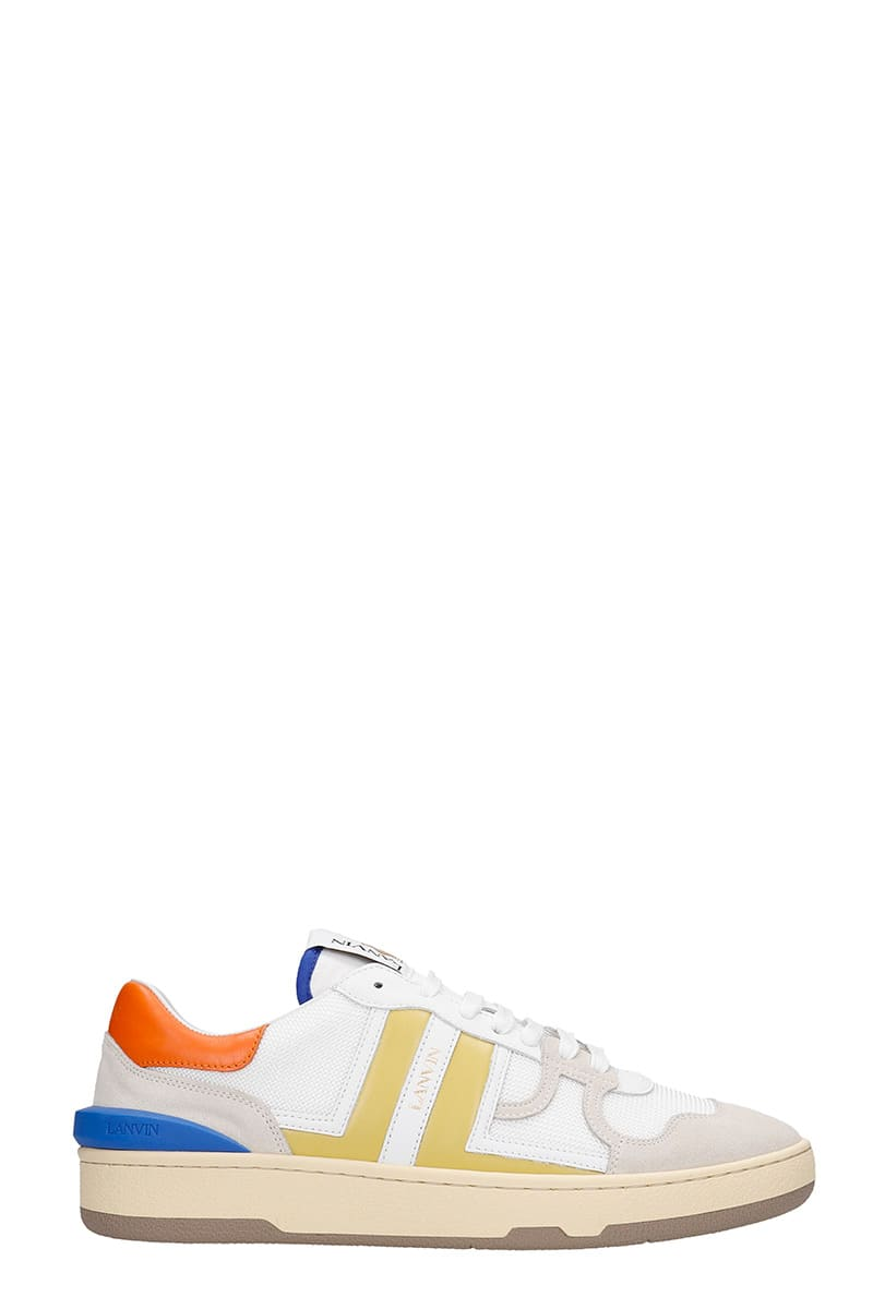 Lanvin CLAY SNEAKERS IN WHITE POLYESTER