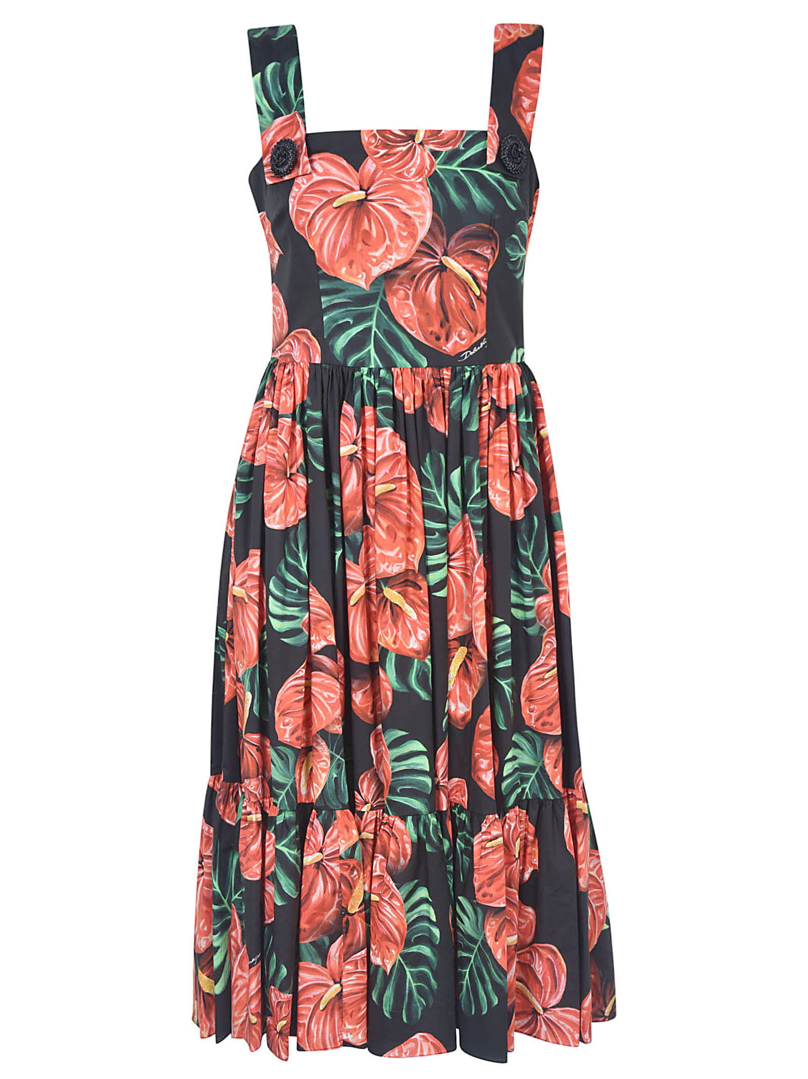 Buy Dolce & Gabbana Printed All-over Dress online, shop Dolce & Gabbana with free shipping