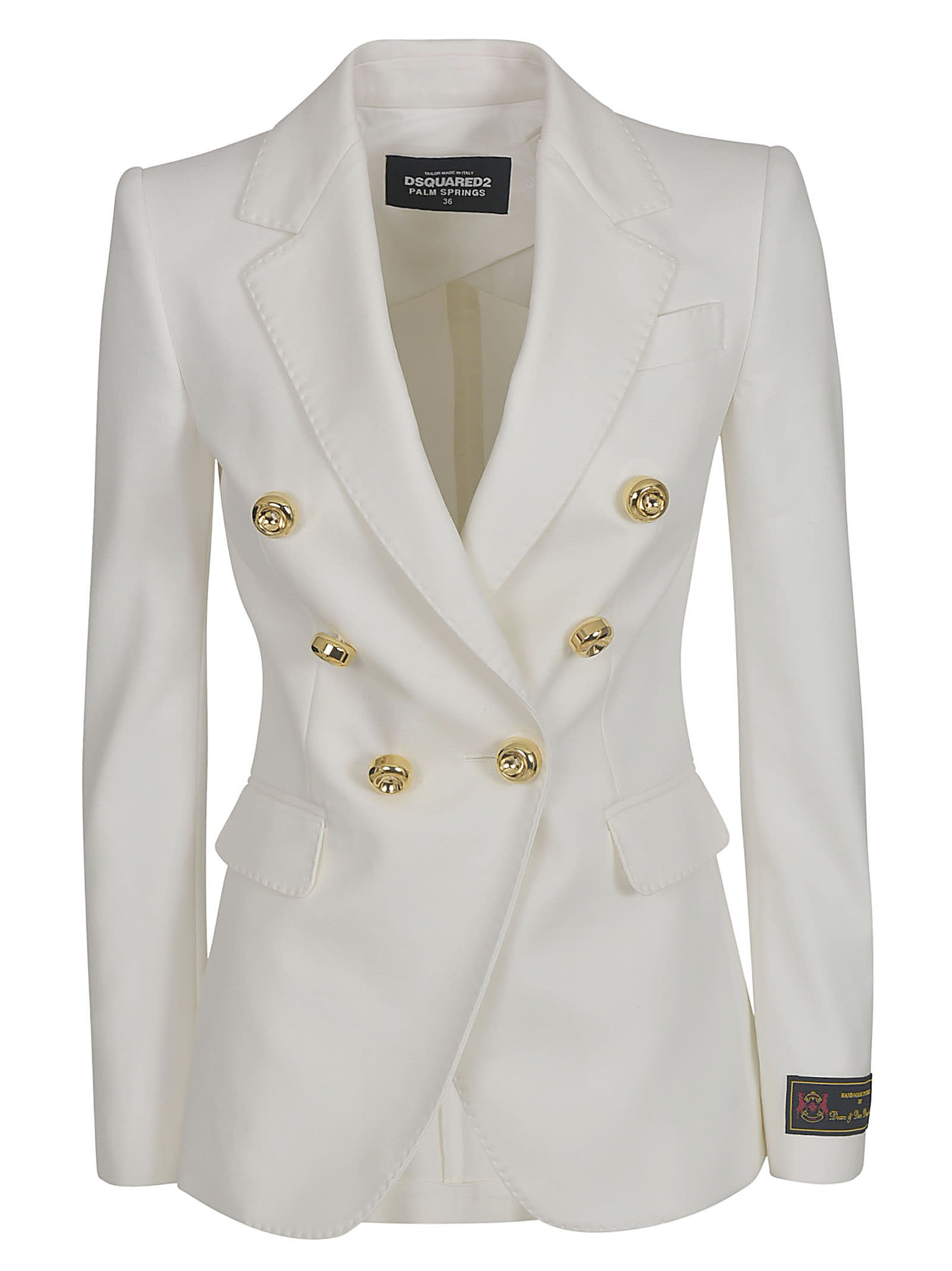 Dsquared2 DOUBLE-BREAST OVERSIZED BUTTONS BLAZER