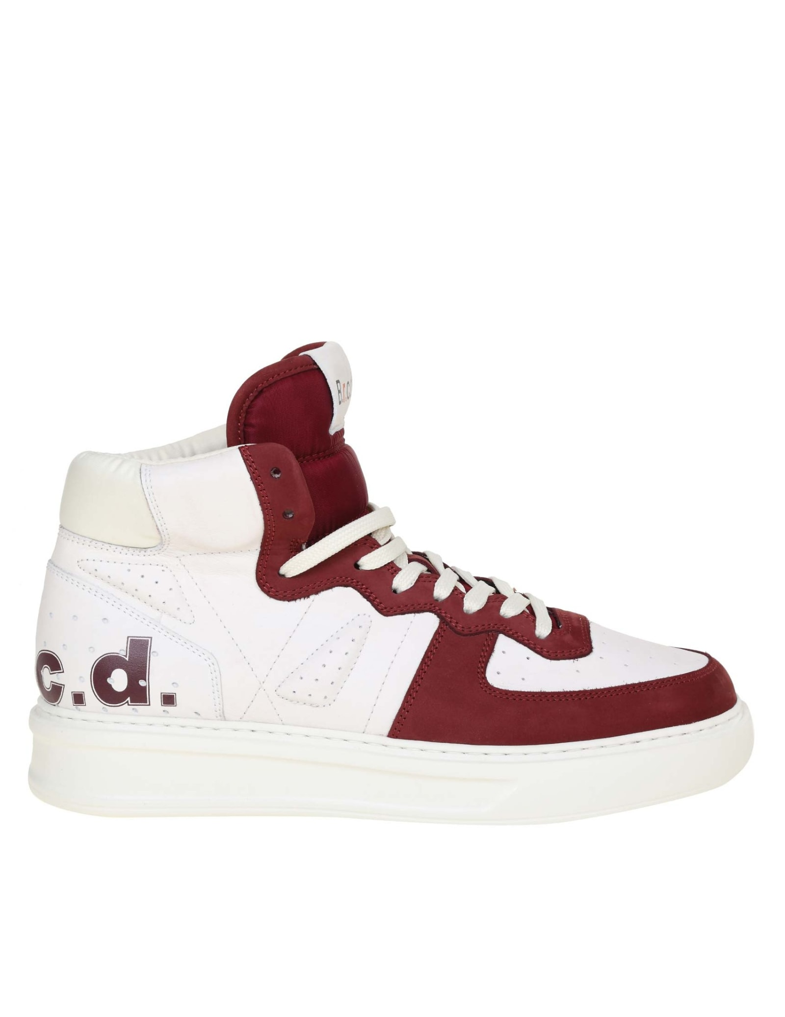 Phoenix Sneakers In White And Burgundy Leather