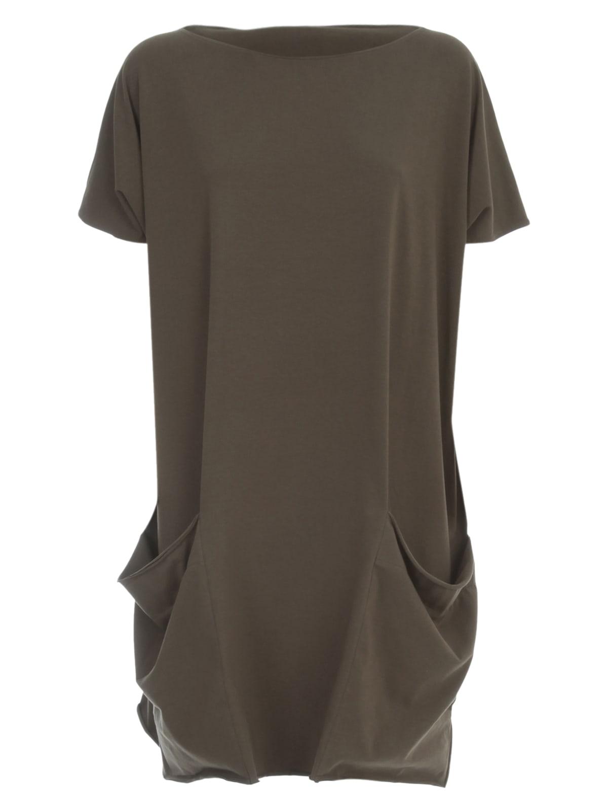 Buy Parosh Jersey Cotton Dress S/s online, shop Parosh with free shipping